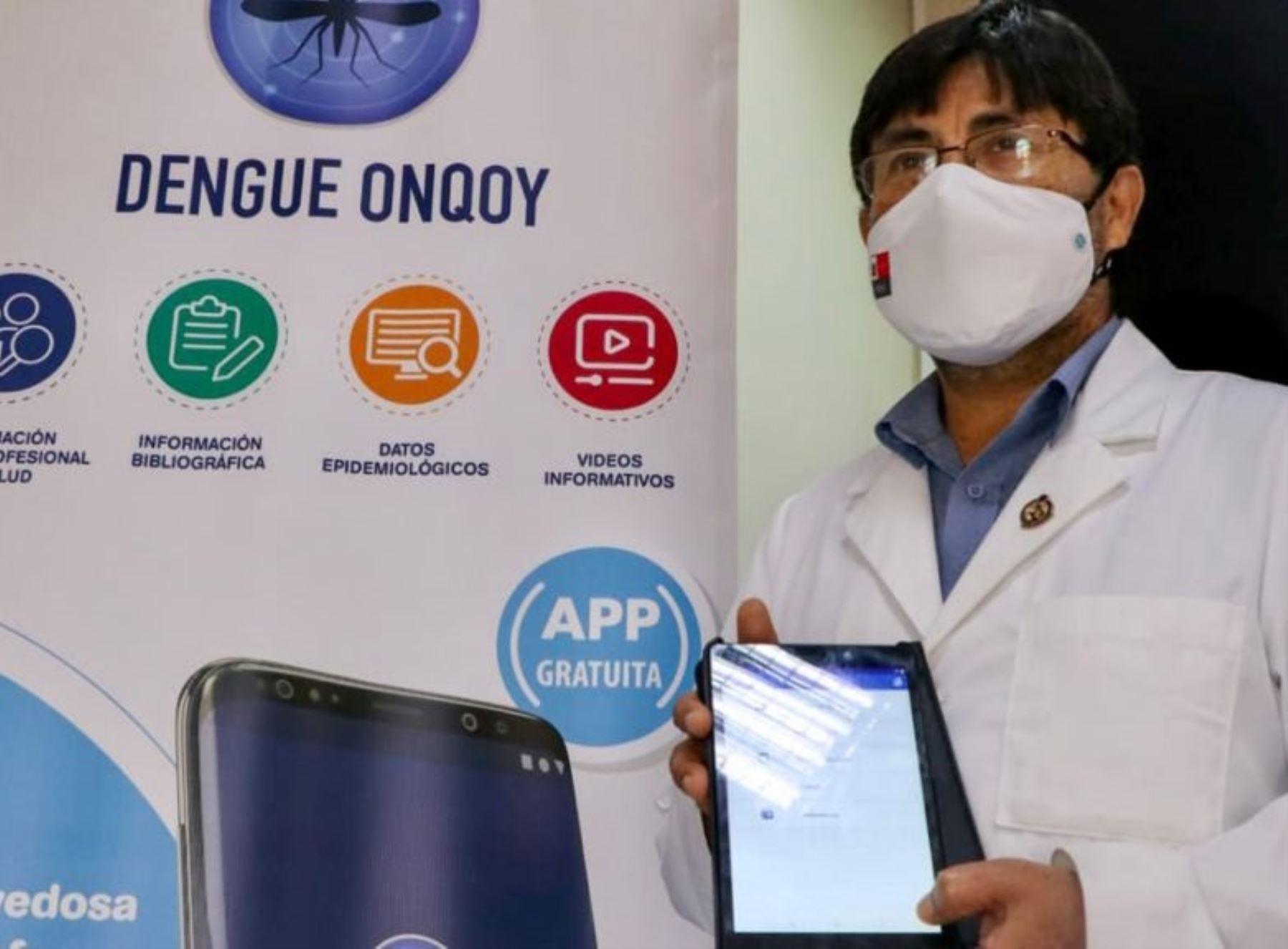 Resaltan aporte de aplicativo Dengue Onqoy en tratamiento contra dicha enfermedad. ANDINA/Difusión