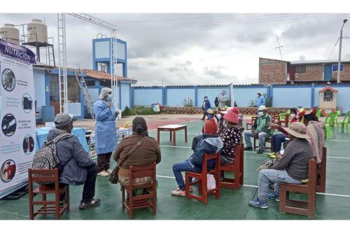 Puno: personal del Minsa realizó intervención de salud en el distrito de Coata