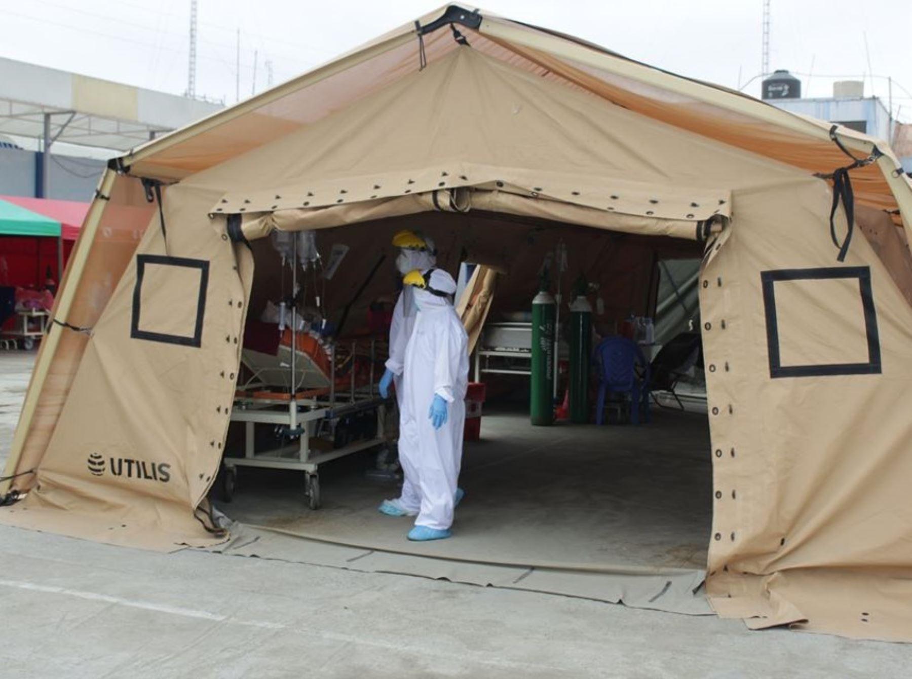 Hospital La Caleta de Chimbote, en Áncash, reactivará desde el lunes 25 el área covid-19 ante el aumento de contagios del coronavirus en esa ciudad. Foto: ANDINA/difusión.