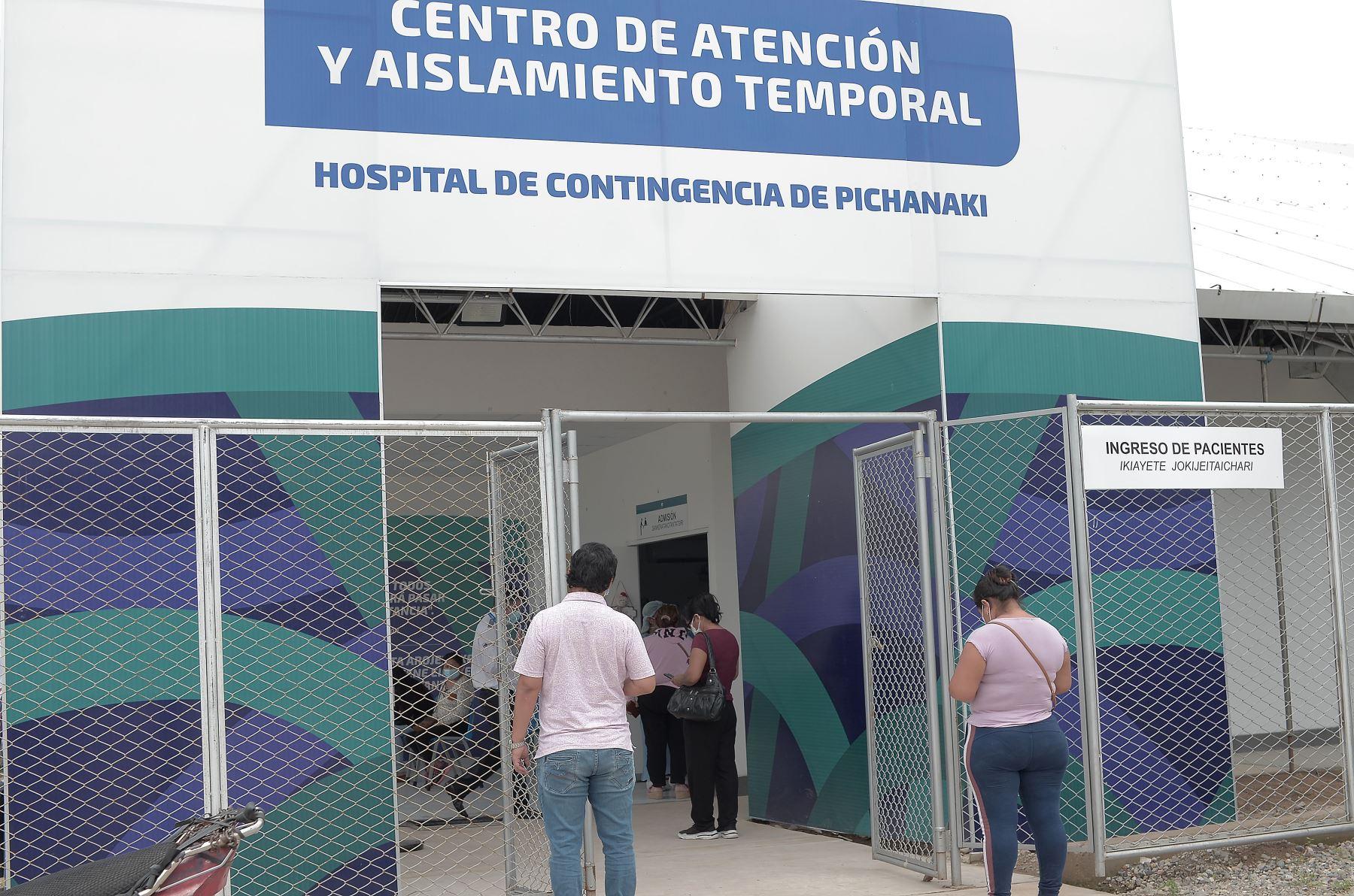El Centro de Atención y Aislamiento Temporal de Pichanaqui, administrado por el Proyecto Especial Legado, se ha convertido en un soporte crucial en la lucha contra el covid-19 en la región Junín. Gracias a su planta de producción de oxígeno medicinal que abastece a los centros hospitalarios aledaños .Foto. ANDINA/ Legado Lima 2019.