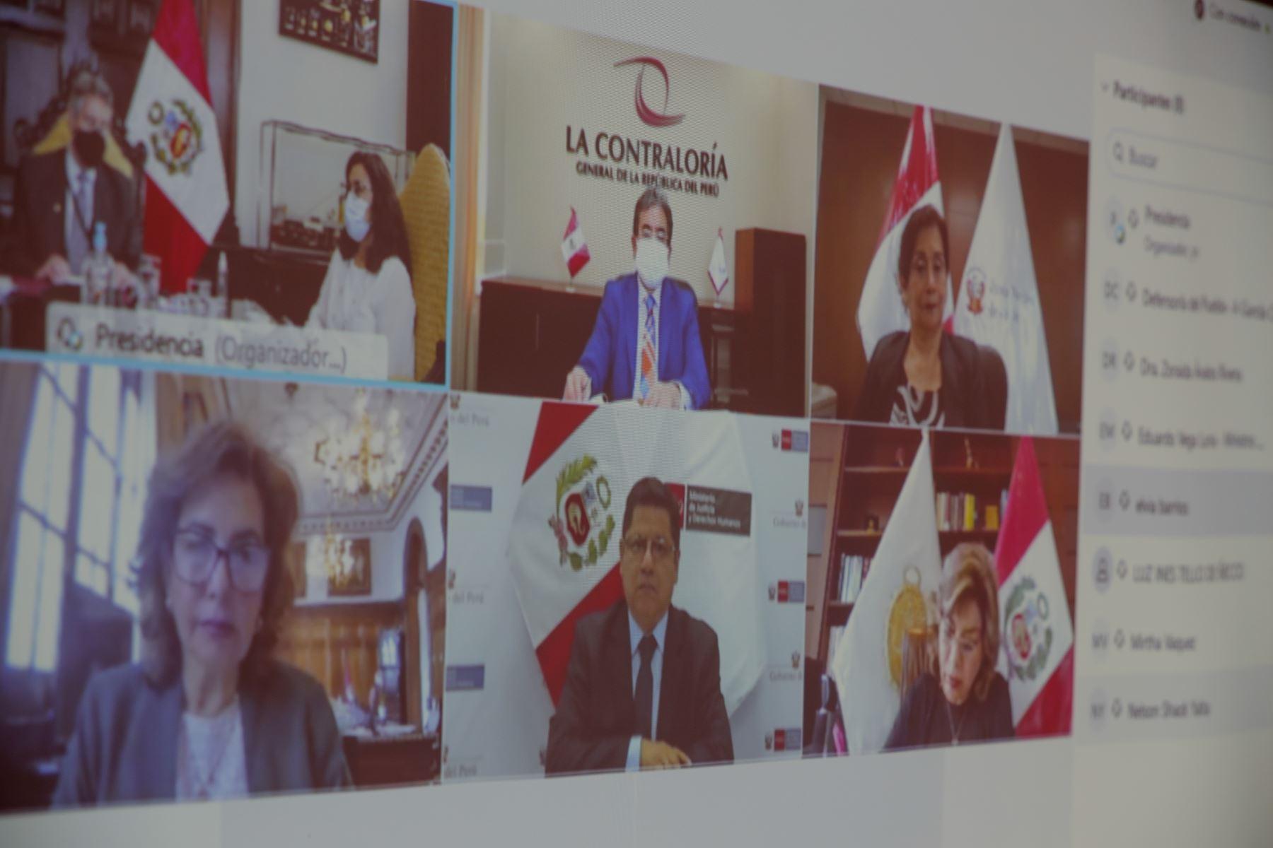El presidente Francisco Sagasti, lideró la sesión de reinstalación del Consejo para la Reforma del Sistema de Justicia, instancia donde se evaluó la propuesta de Política de Reforma del Sistema de Justicia y proyectos normativos para impulsar cambios en la justicia. Foto: ANDINA/ Prensa Presidencia