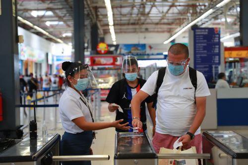MTC Y SUTRAN supervisan medidas de seguridad en el Terminal Terrestre Plaza Norte