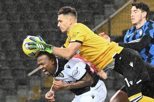 Inter de Milán iguala 0 a 0 ante el Udinese por la serie A de la Liga Italiana