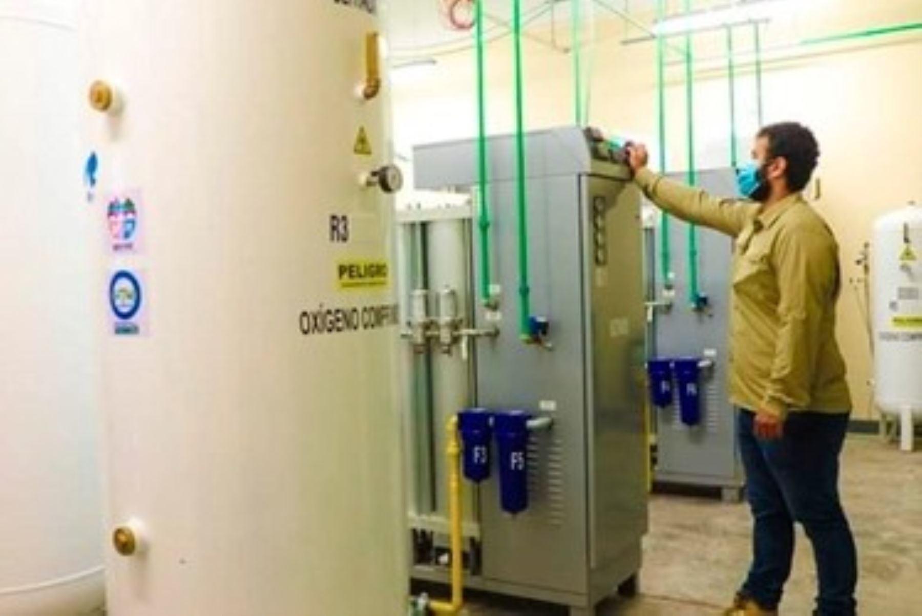 La planta de oxígeno funciona en el distrito de Villa El Salvador, al sur de la ciudad de Lima, Perú. Foto referencial. Foto: ANDINA/Difusión