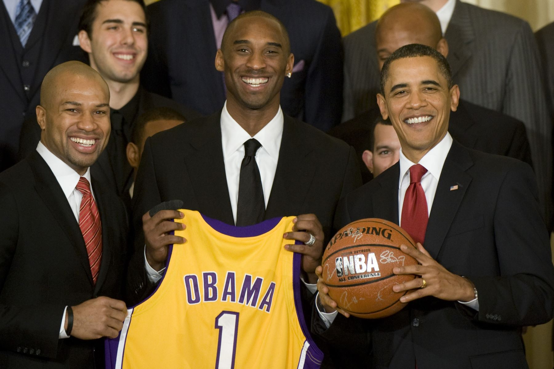 Evento con el campeón de la NBA 2008-2009 Los Angeles Lakers en la Casa Blanca en Washington, DC, 25 de enero de 2010. Foto: AFP
