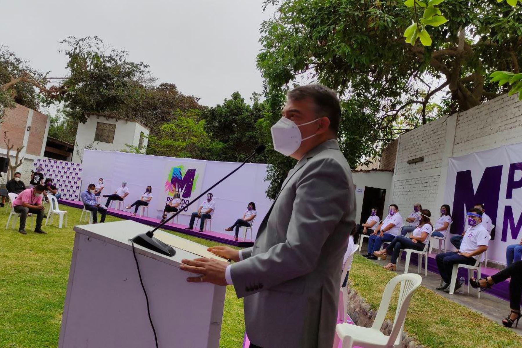 Julio Guzmán, candidato presidencial por el Partido Morado. Foto: ANDINA/difusión.