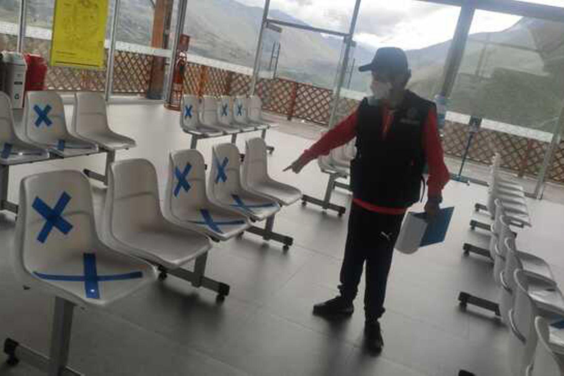 Las instalaciones de la empresa Telecabinas Kuélap (Amazonas) fueron inspeccionadas en operativo de prevención. Foto: ANDINA/Difusión