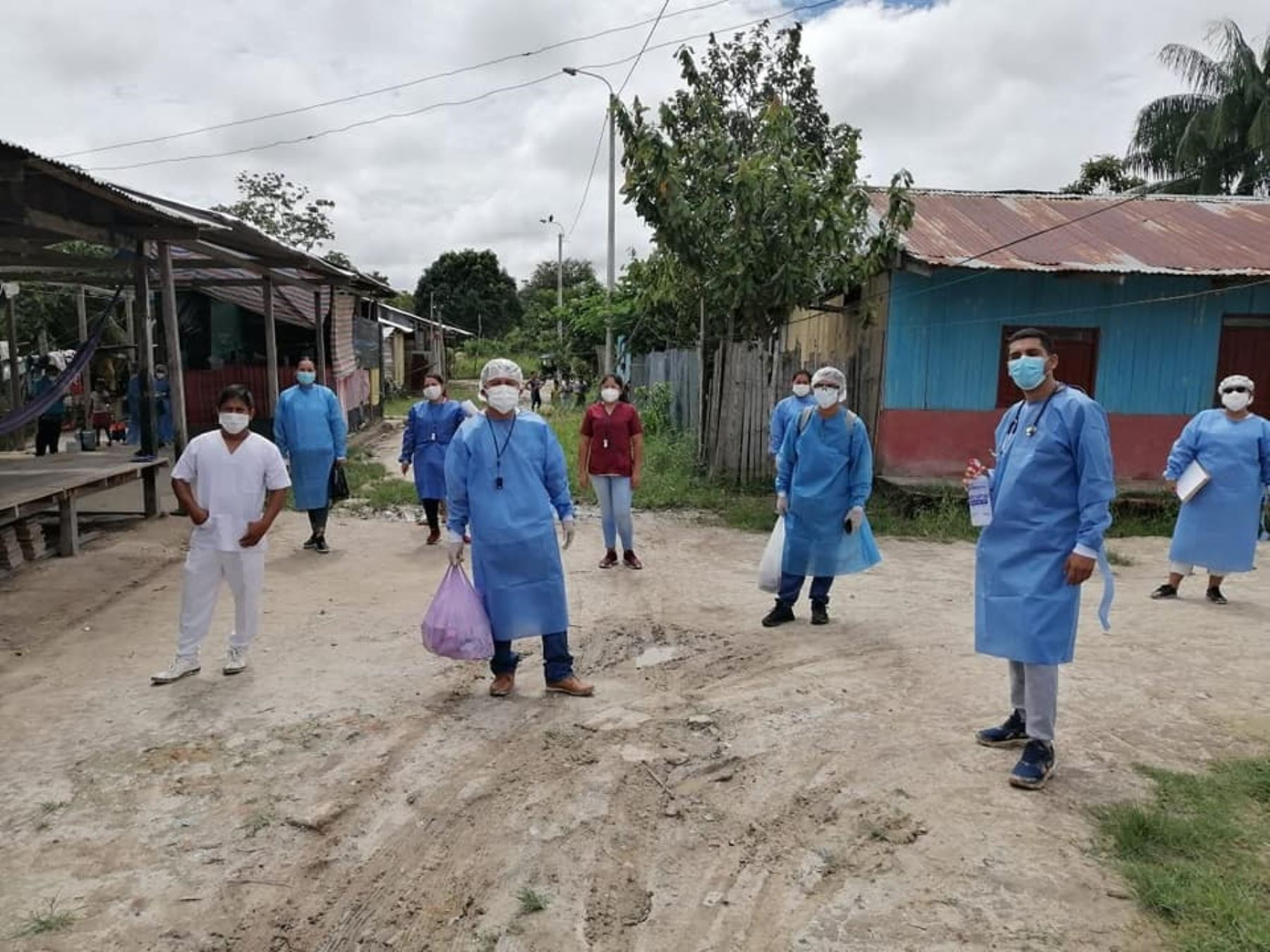 Loreto inicia la búsqueda temprana de casos sospechosos de covid-19 en Caballococha, para evitar que lleguen graves a hospitales. Foto: ANDINA/difusión.