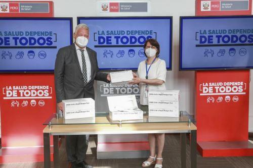 Minsa recibió donación de pruebas para diagnóstico Covid-19 por parte del Gobierno Alemán