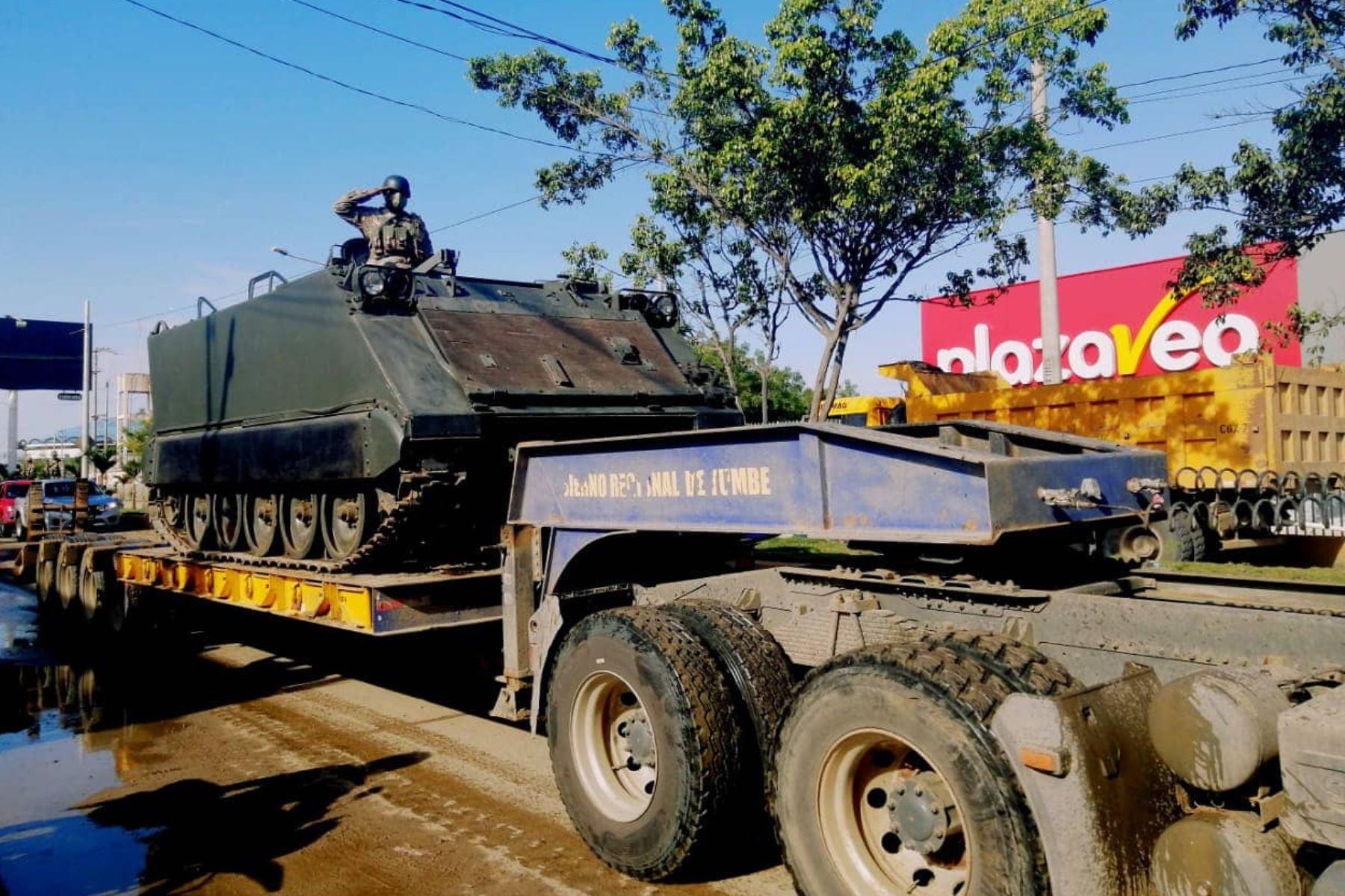 El Ejército del Perú intensifica sus acciones militares en la línea de frontera en apoyo a la Policía Nacional. Foto: @CCFFAA_PERU