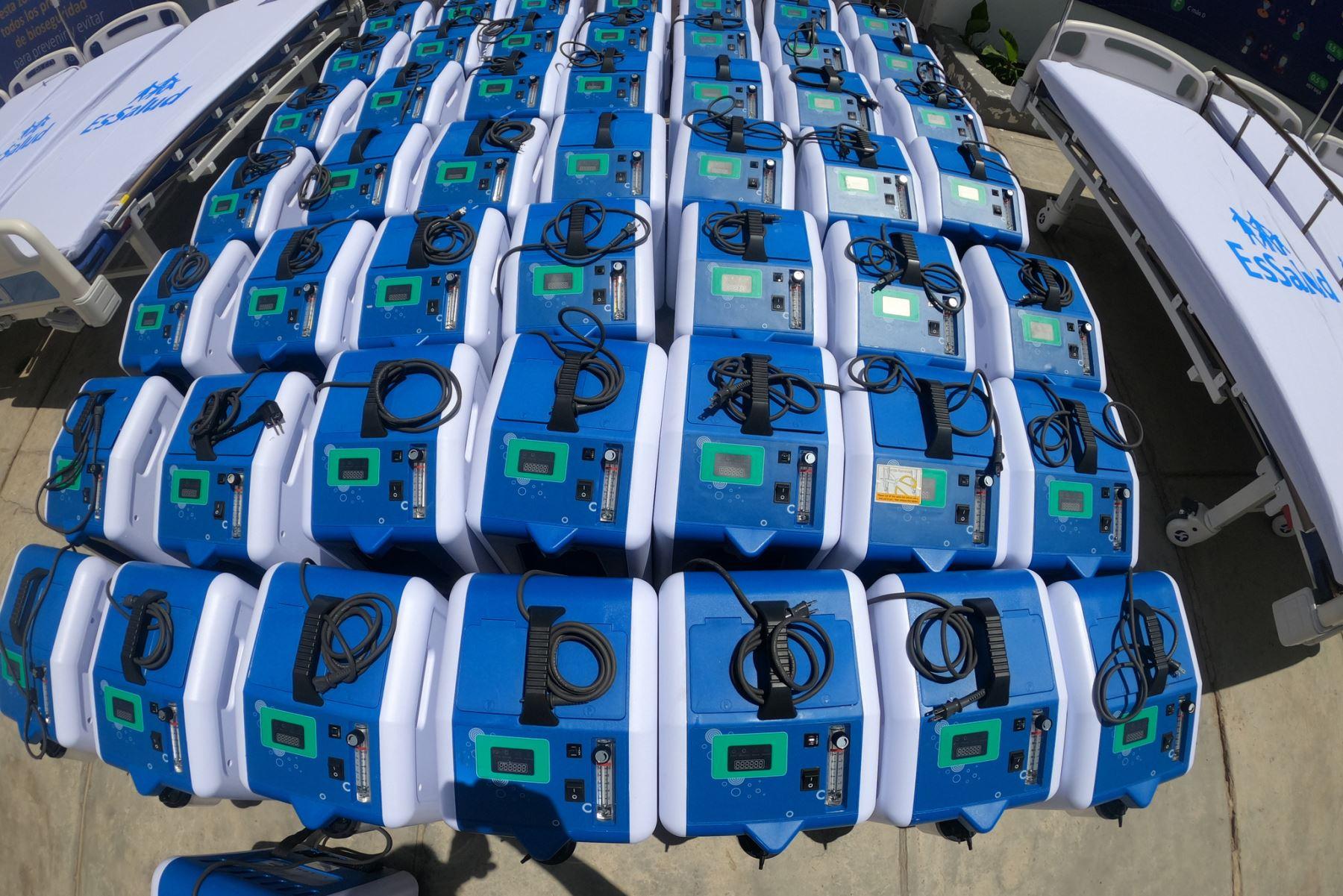 Essalud envío a Huánuco 50 concentradores de oxígeno y 40 camas para pacientes covid-19. Foto: ANDINA/Essalud