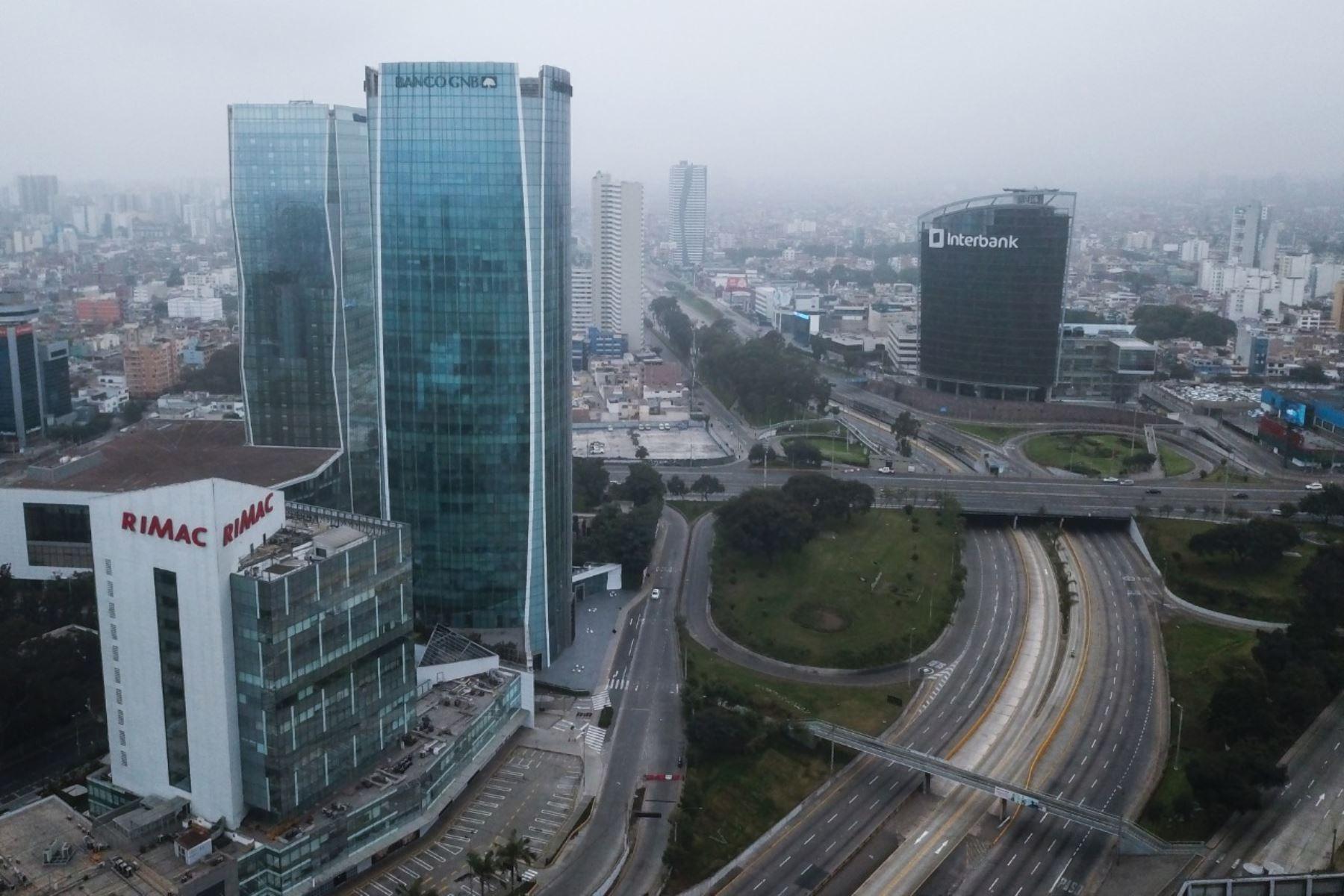 Centro financiero de Lima. Foto: ANDINA/Juan Carlos Guzmán.