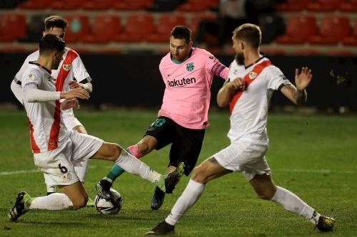Barcelona venció 2-1 a Rayo Vallecano por los octavos de final de la Copa del Rey