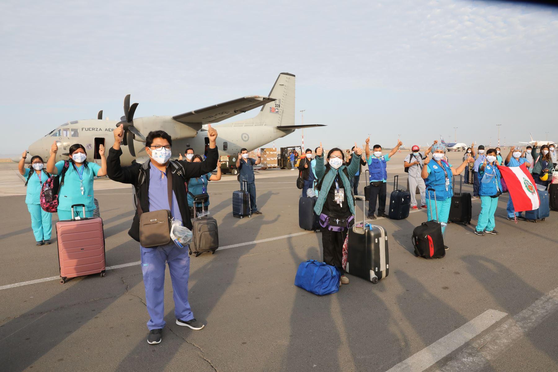 EsSalud envía brigada médica a Talara, región Piura, para reforzar lucha contra pandemia de coronavirus (covid-19). AFP