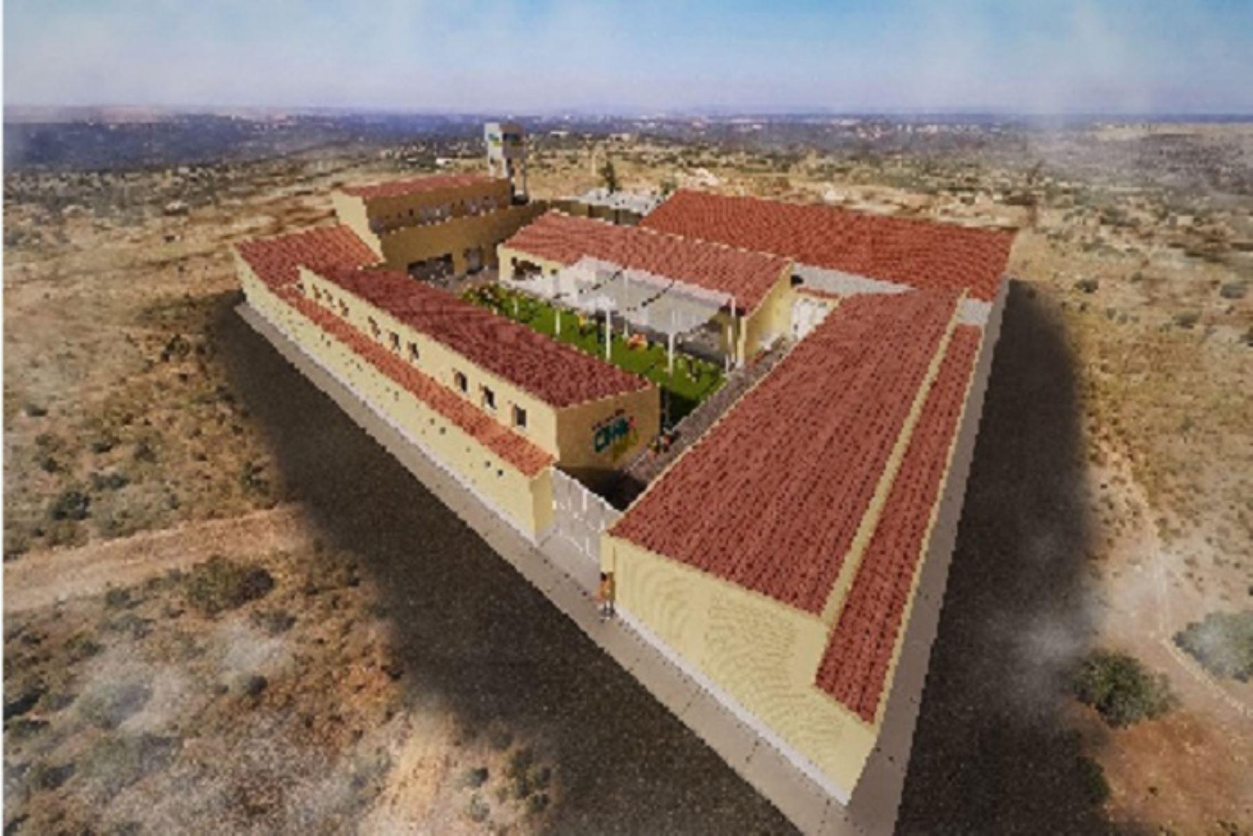 Este establecimiento tendrá un área total de 1522.1 m2 y un área construida de 919.32 m2. La administración del Cuna Más estará a cargo del Midis.