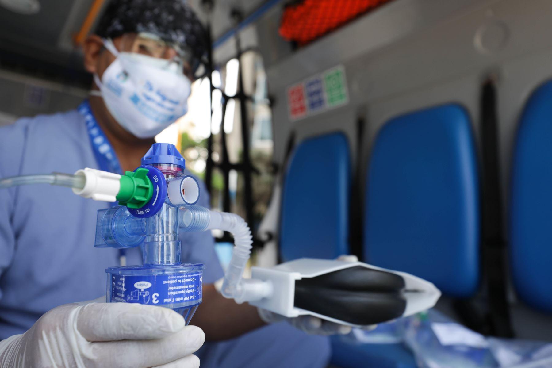 Essalud recibió una donación de 680 respiradores mecánicos personales, para reforzar el trabajo que siguen realizando los médicos y todo el personal sanitario de los hospitales de dicha institución en esta segunda ola de contagios de covid-19. Foto: ANDINA/ Essalud.