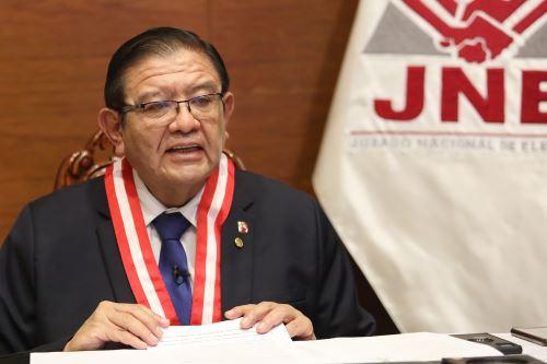 Jorge Luis Salas, presidente del JNE. ANDINA/Difusión