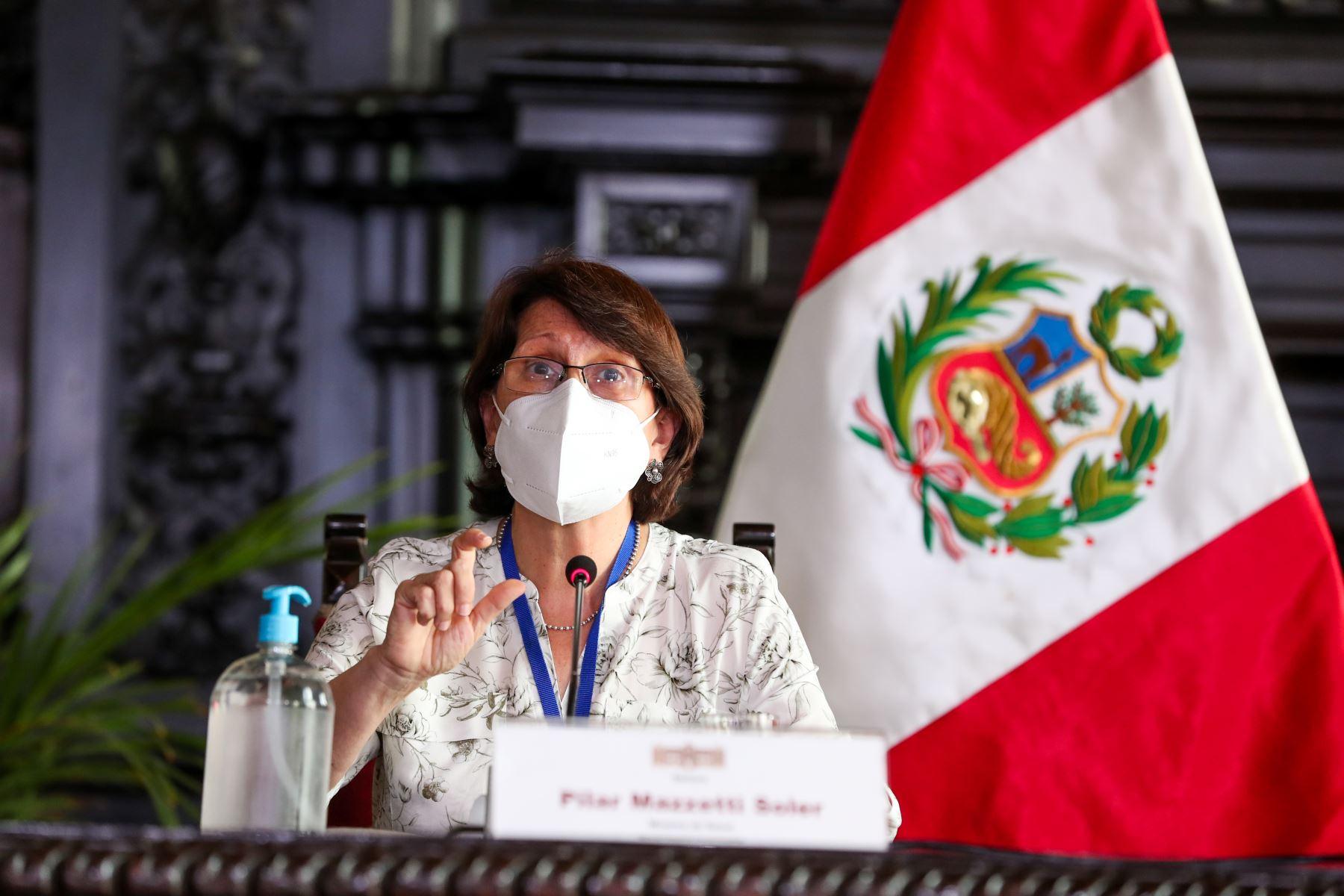 Ministra de Salud, Pilar Mazzetti. Foto: ANDINA/difusión.
