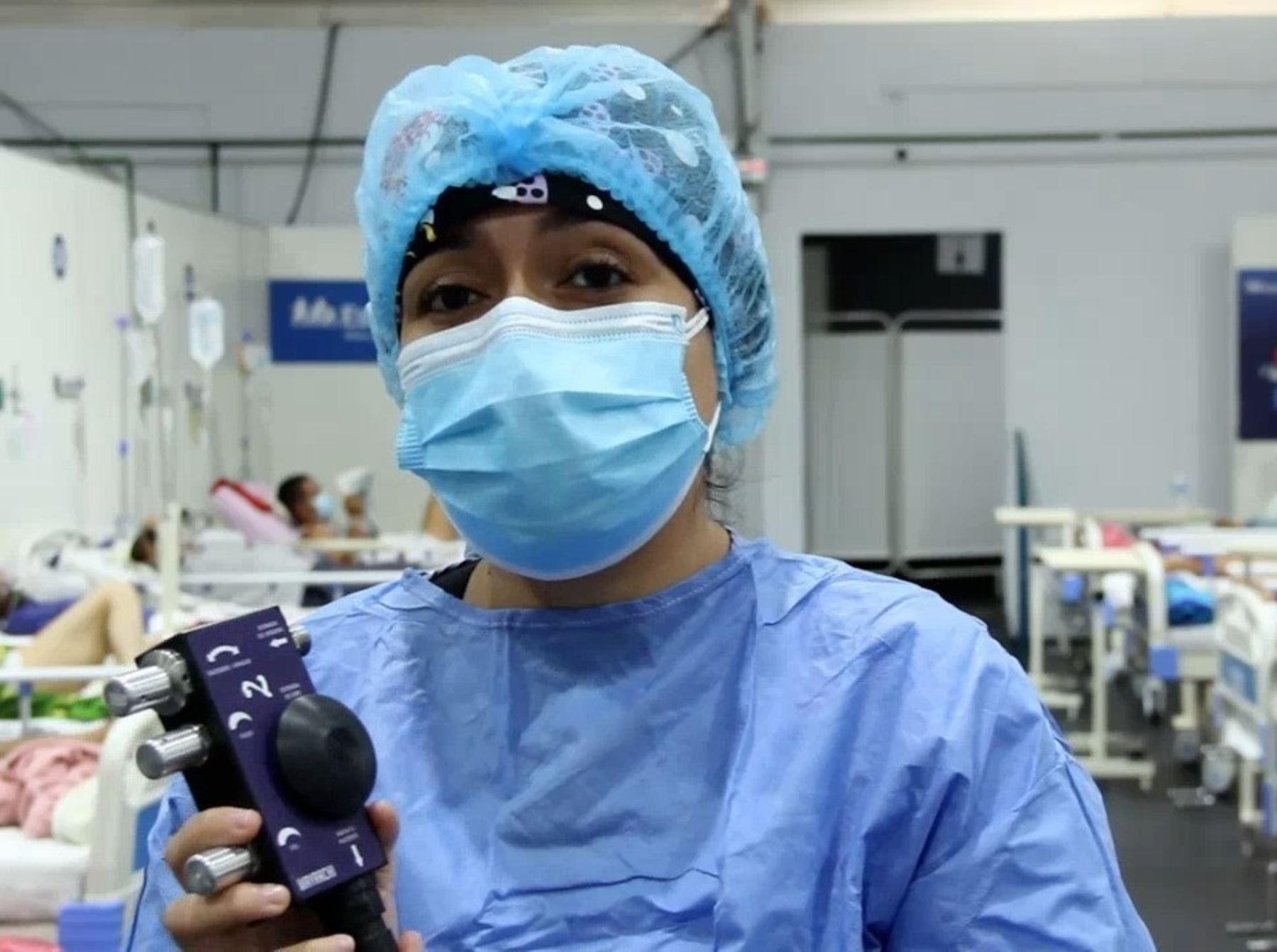 El wayrachis es un dispositivo de alto flujo de oxígeno que emplea la Villa EsSalud Piura y ha logrado recuperar a varios pacientes críticos afectados por el coronavirus (covid-19). ANDINA/Difusión