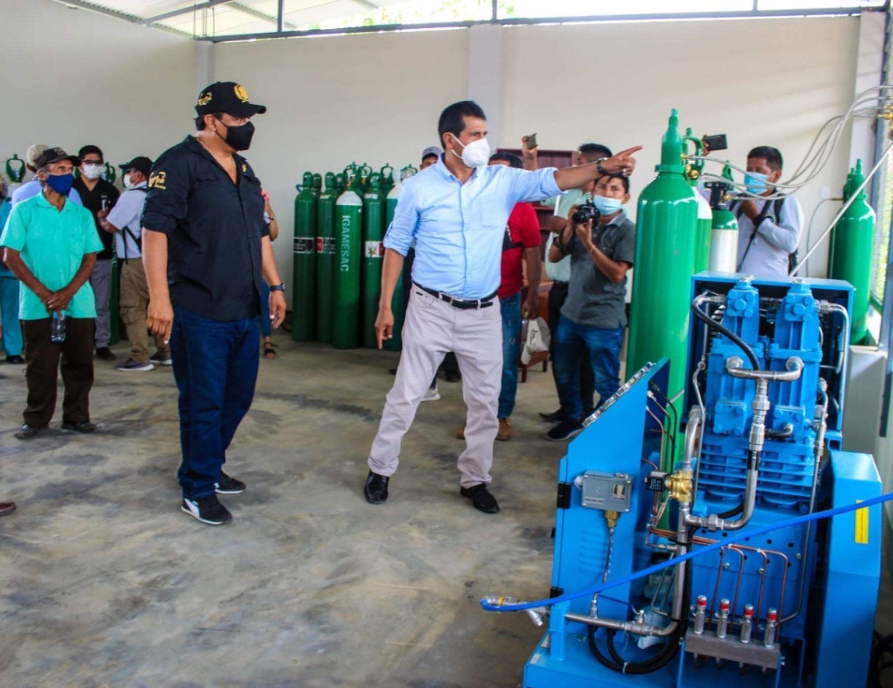 Con nueva planta de oxígeno la provincia de Satipo y el distrito de Pangoa enfrentan la segunda ola del coronavirus covid-19. Foto: ANDINA/difusión.