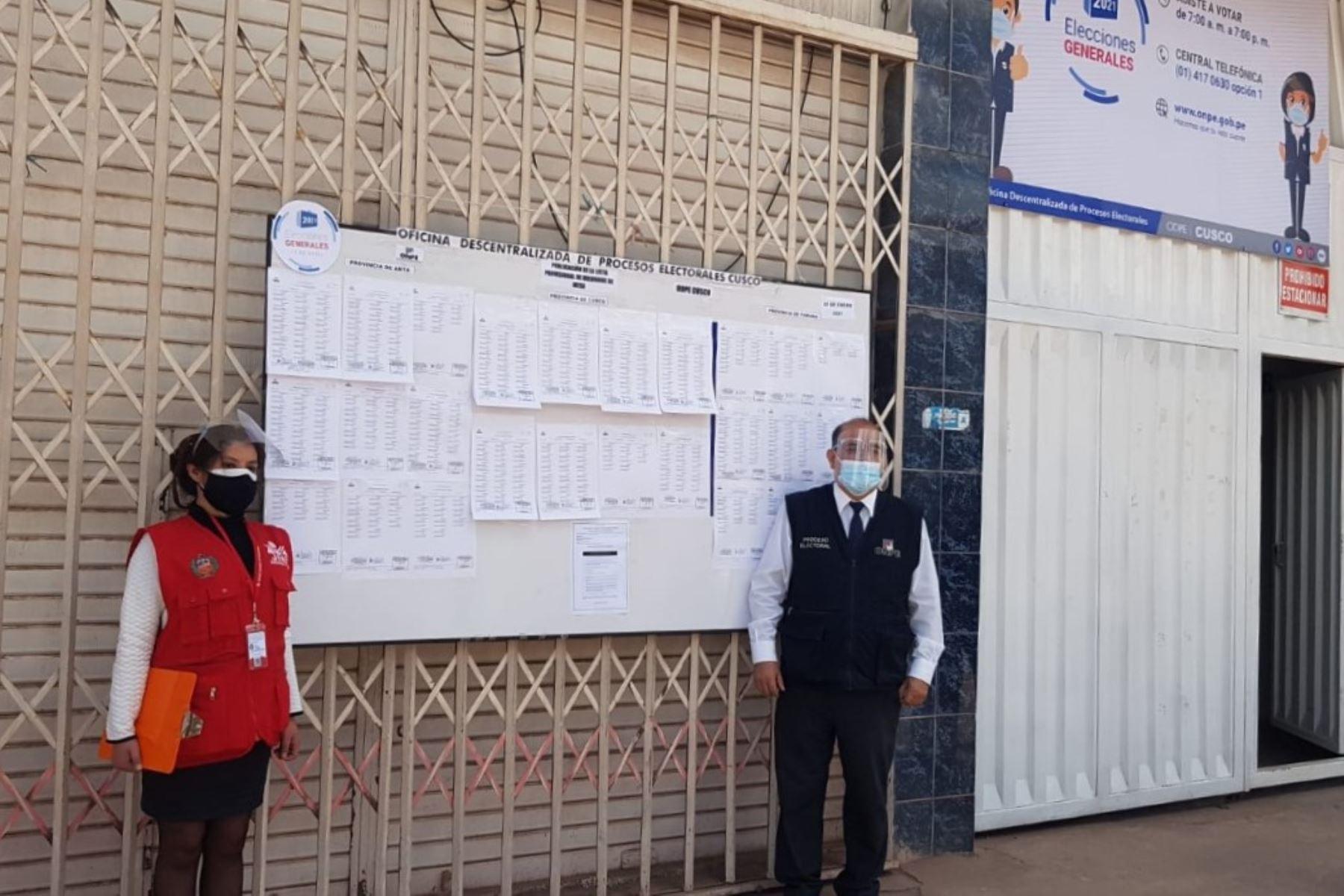 Autoridades electorales del Cusco preparan con anticipación la jornada democrática del 11 de abril.