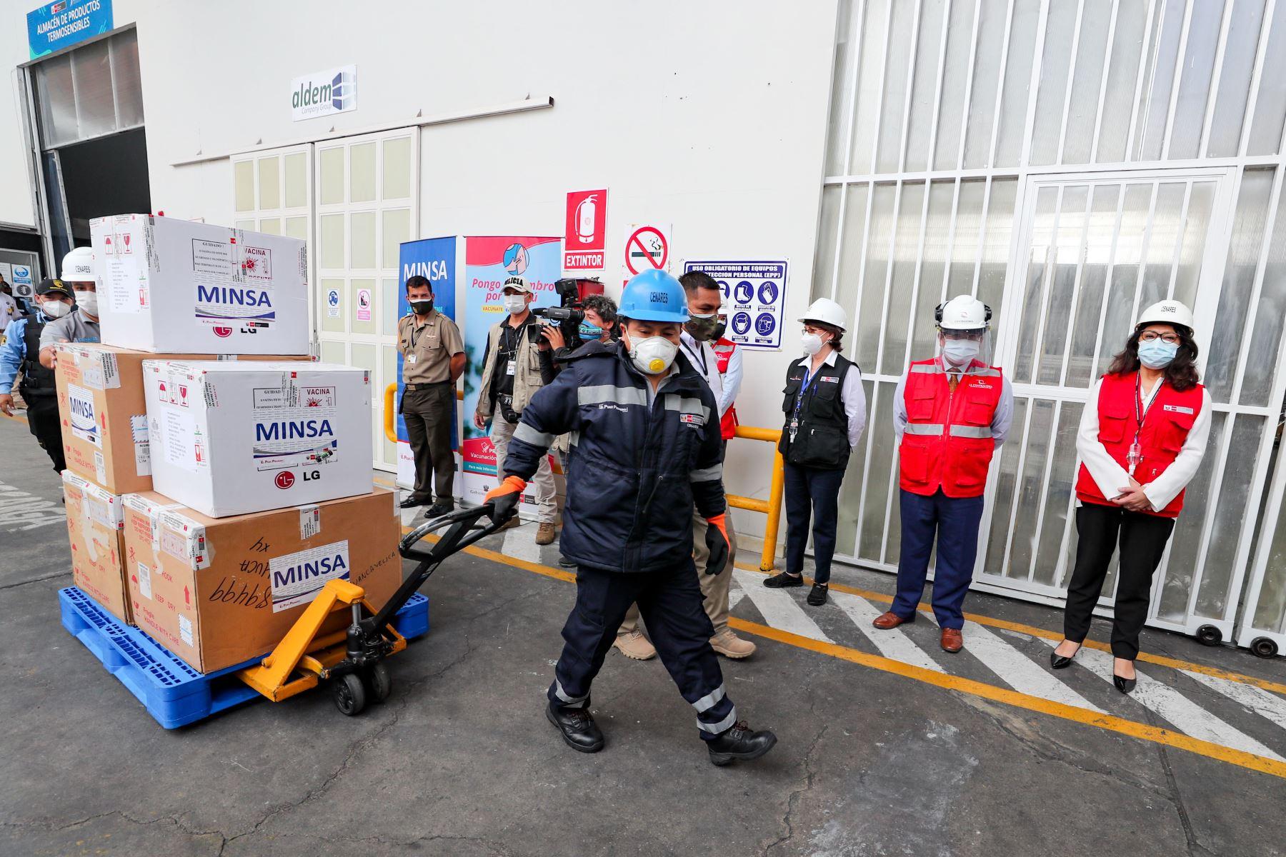 Covid-19: se inició la distribución de las vacunas en los hospitales de Lima y Callao.ANDINA/Difusión