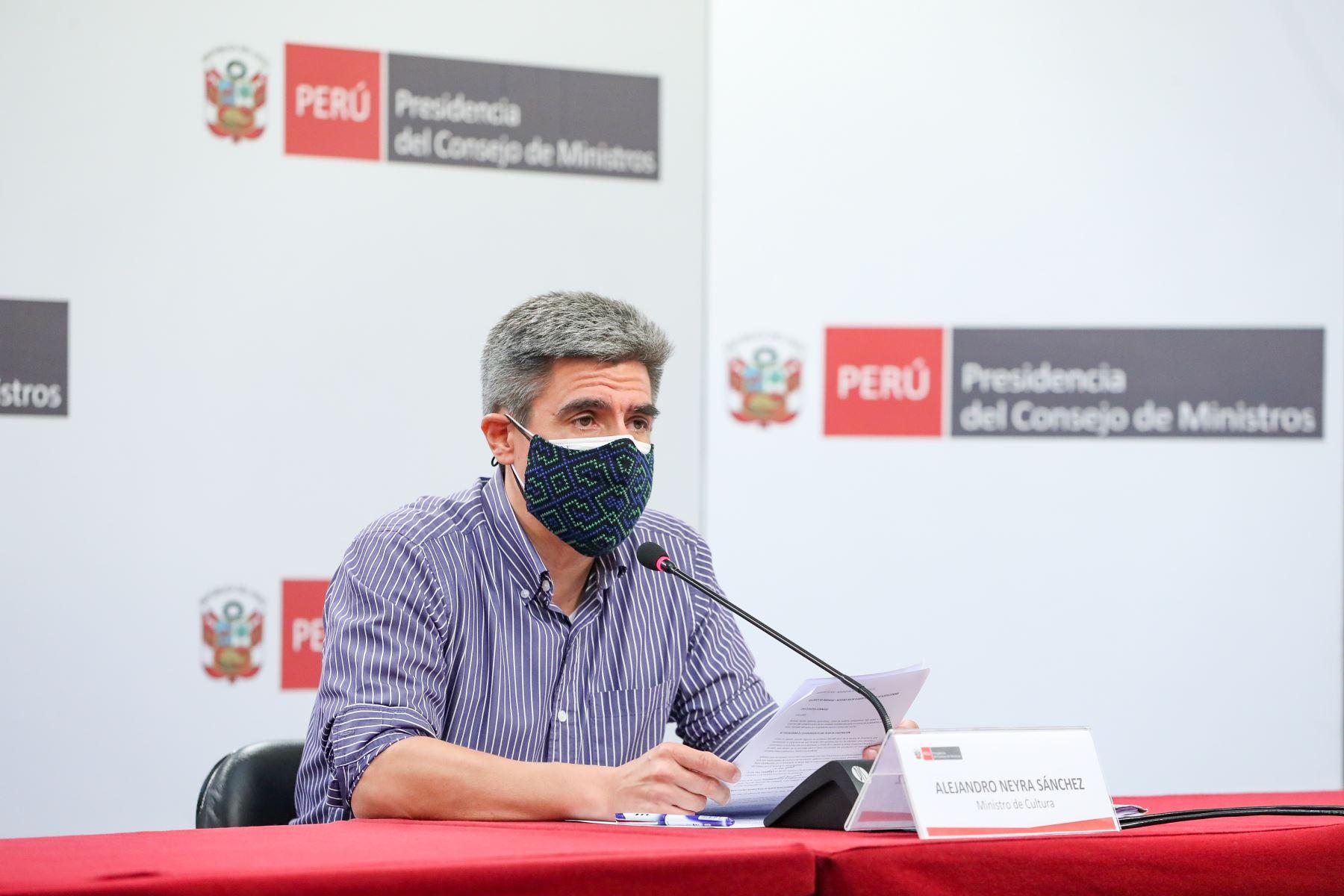 MInistro de Cultura, Alejandro Neyra. Foto: PCM