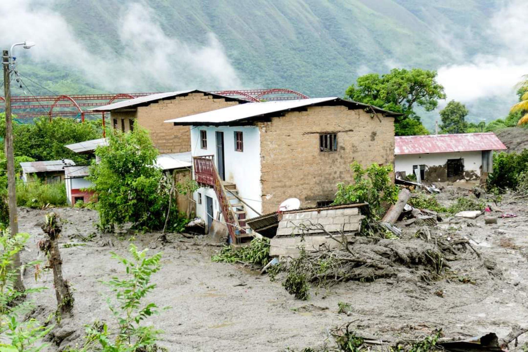 Se prorrogó el estado de emergencia en el distrito de Echarati, en Cusco, uno de los distritos más afectados por las lluvias intensas. ANDINA/Percy Hurtado Santillán