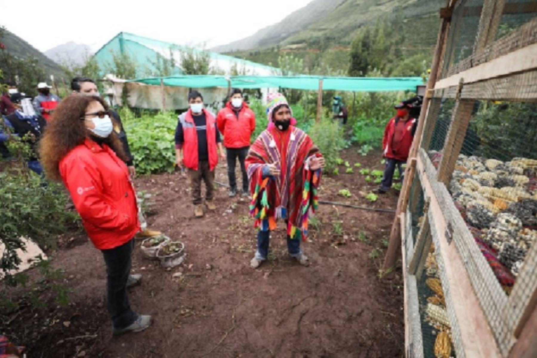 Ministra de Desarrollo e Inclusión Social, Silvana Vargas visita proyectos de Foncodes. ANDINA/Difusión