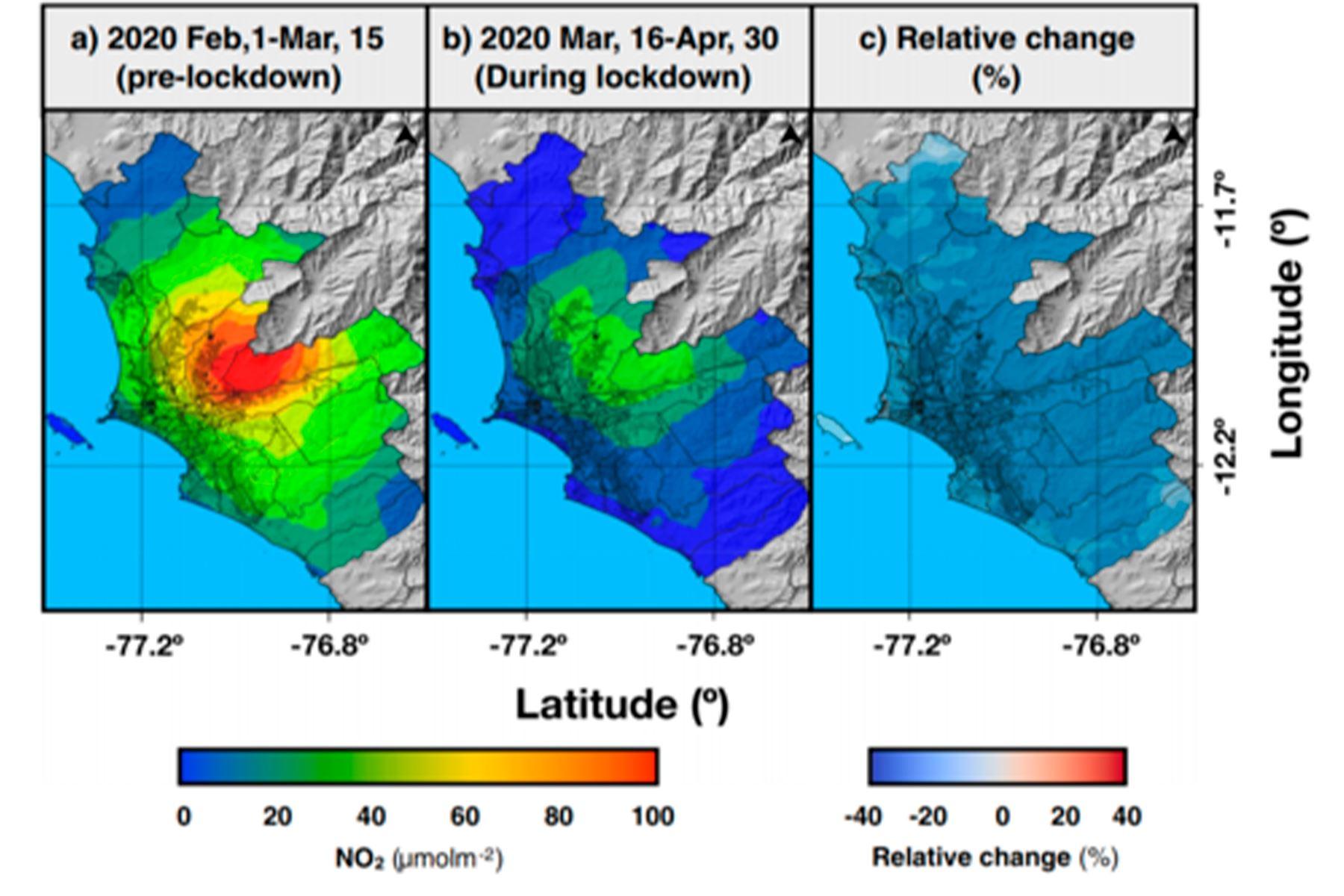 """Según artículo """"Efectos de las medidas de control de la pandemia de COVID 19 sobre la contaminación del aire en el área metropolitana de Lima, Perú en América del Sur"""". Foto: ANDINA/Senamhi"""