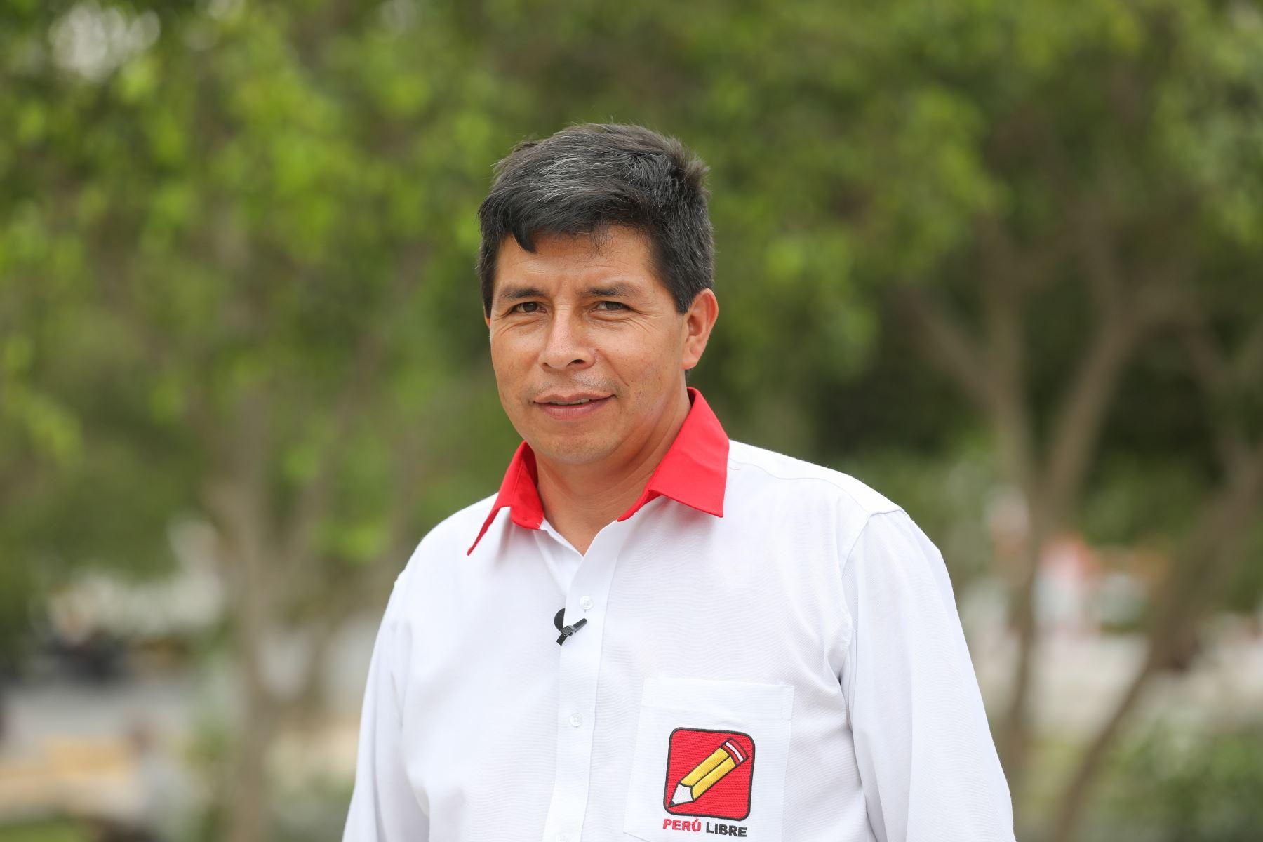 Pedro Castillo postula a la Presidencia por el partido Perú Libre. ANDINA/Braian Reyna