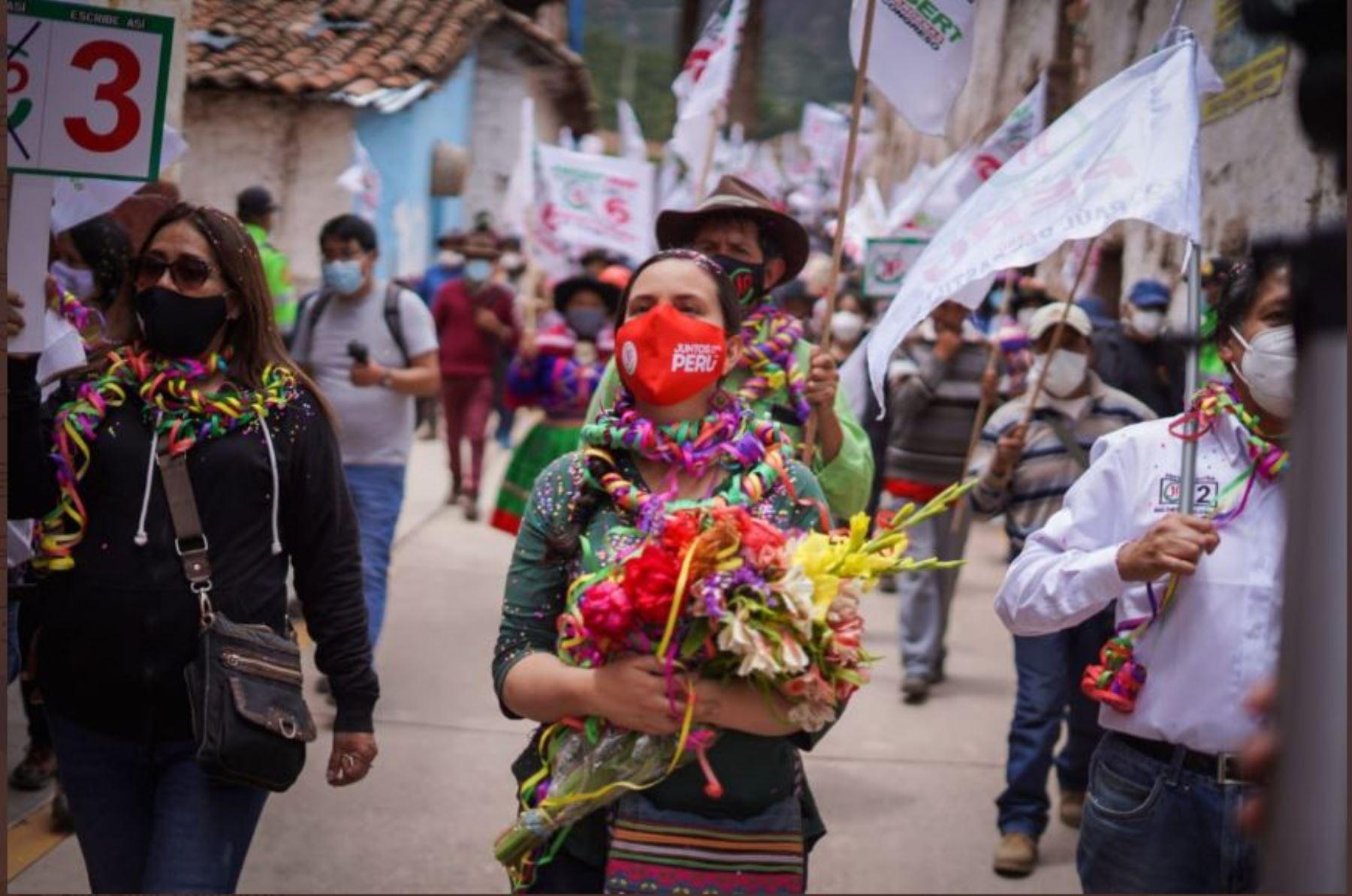 Verónika Mendoza, candidata a la presidencia por Juntos por el Perú (JP)