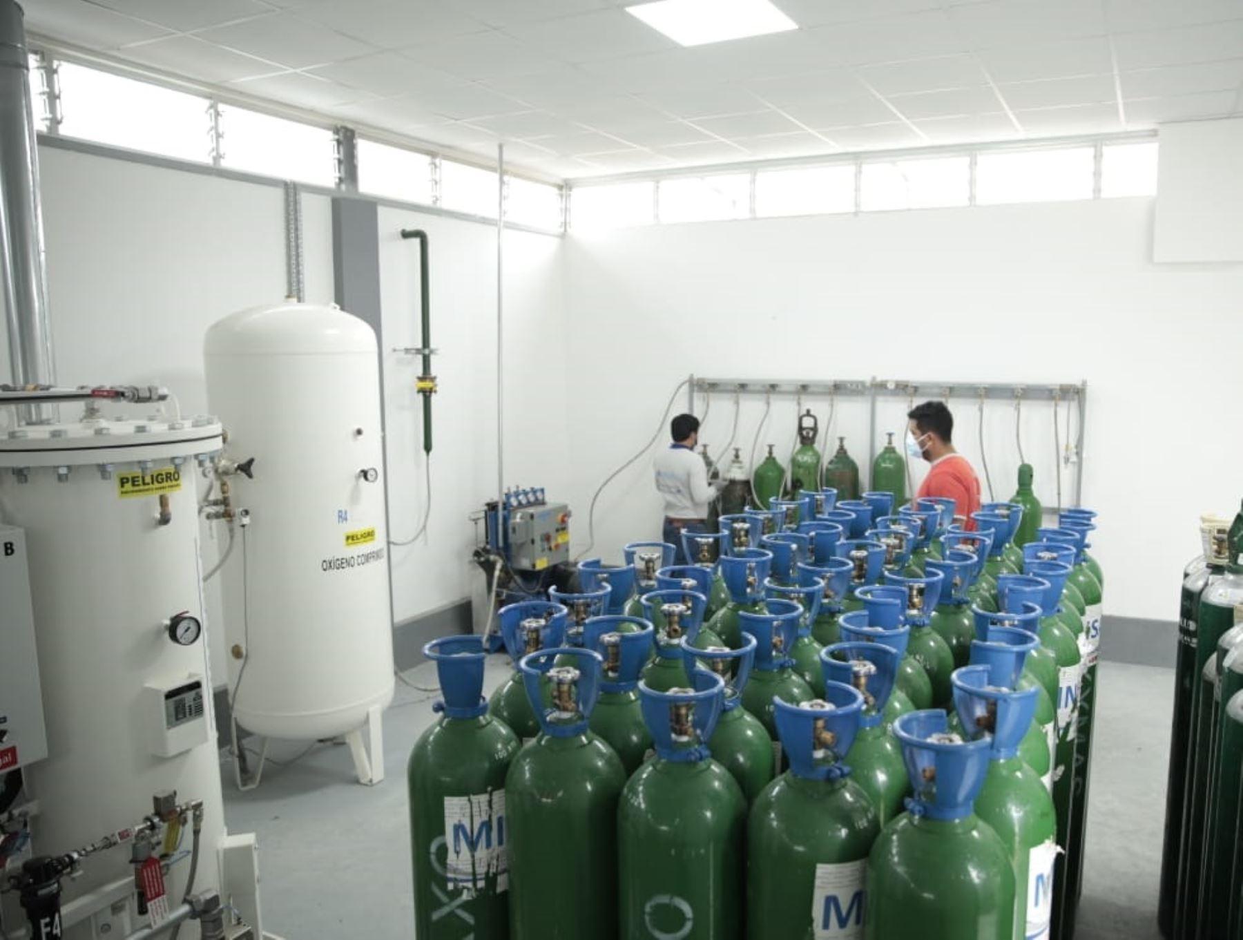 Región San Martín enviará oxígeno medicinal a hospital de Ate para atender el creciente número de casos de covid-19 que se registra en Lima.