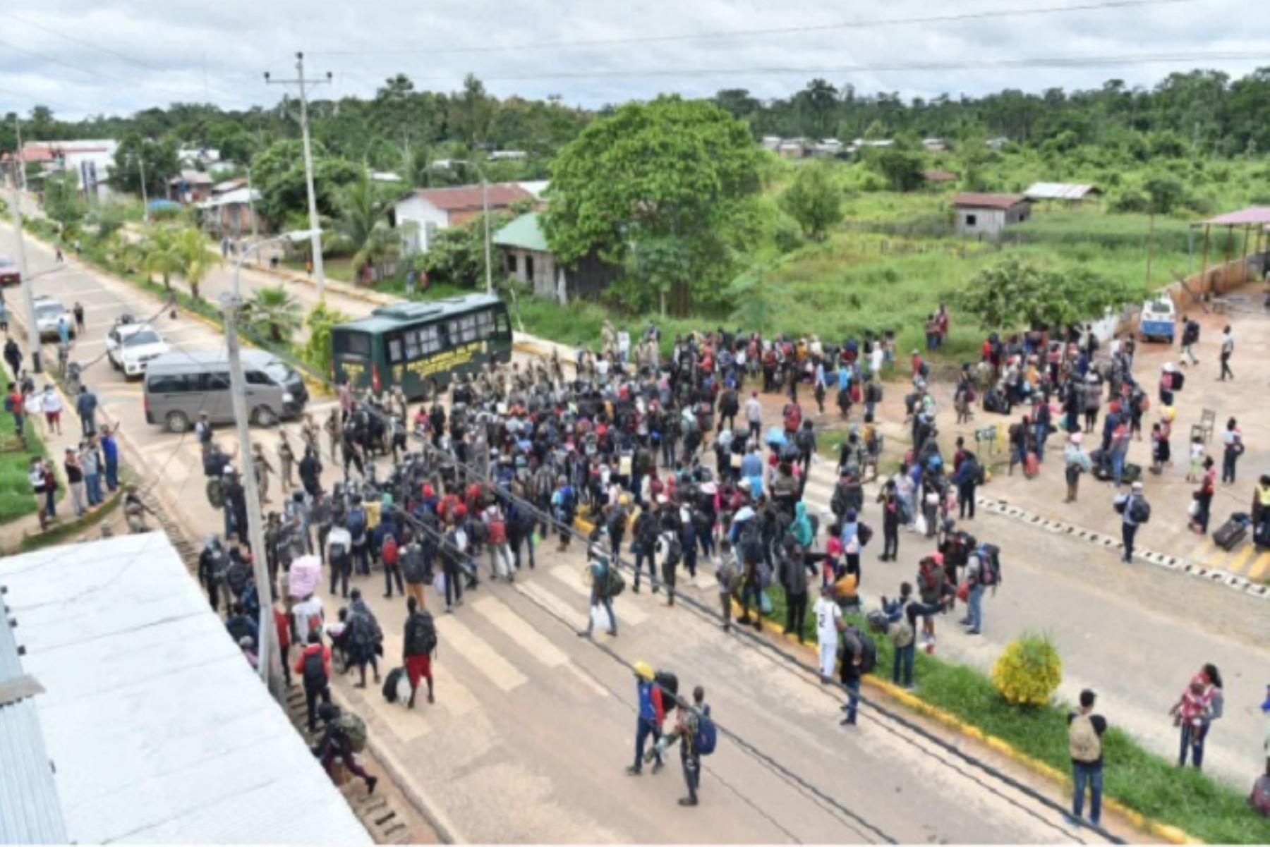 Haitianos ingresaron  por la fuerza a territorio peruano por Madre de Dios
