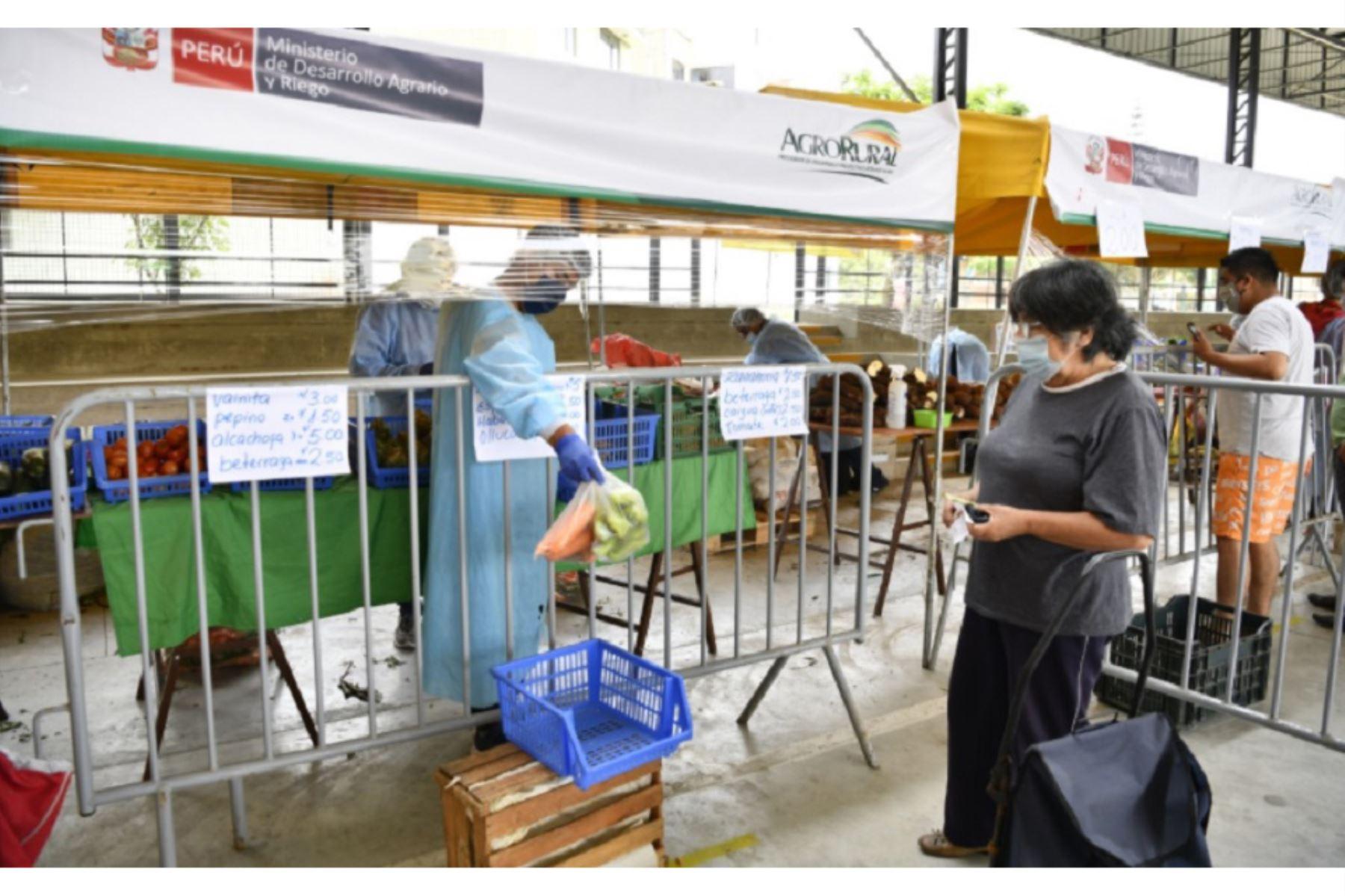 Ferias itinerantes impulsadas por Agro Rural, programa del Ministerio de Desarrollo Agrario y Riego. ANDINA/Difusión