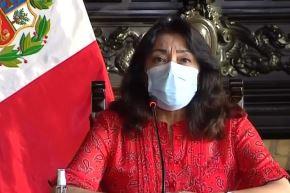 Presidenta del Consejo de Ministros, Violeta Bermúdez. Captura TV
