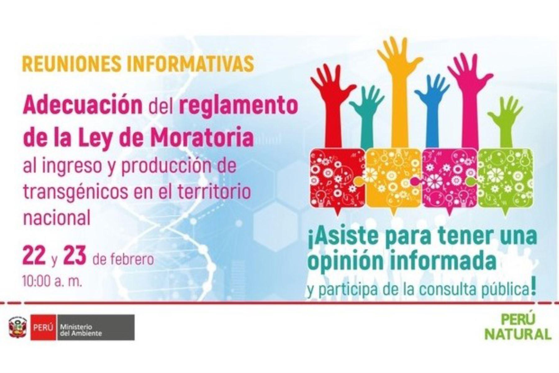 minam-hara-reuniones-informativas-sobre-ley-de-moratoria-de-productos-transgenicos