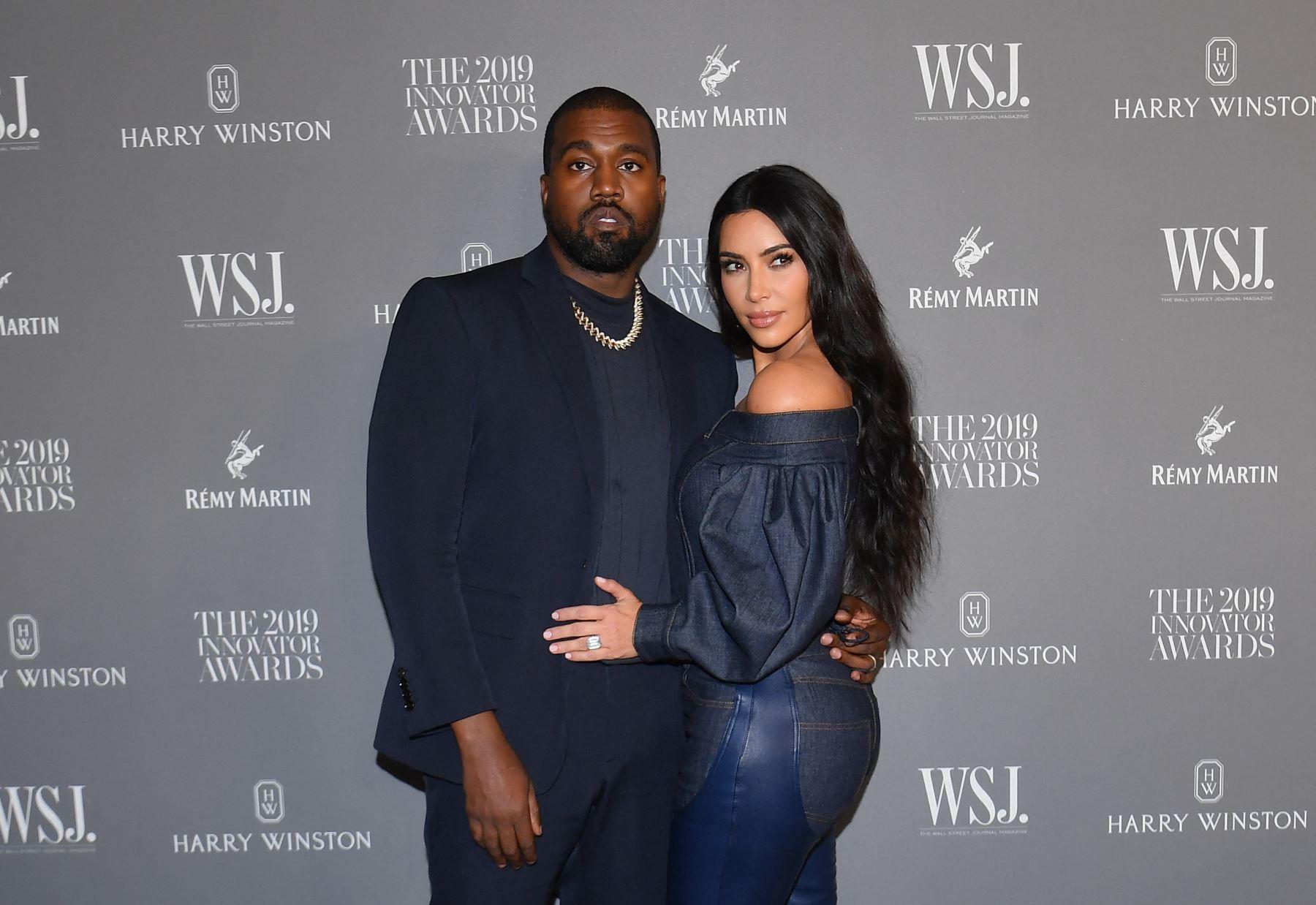 """Es el primer divorcio de West y el tercero de Kardashian, que saltó a la fama con el programa de telerrealidad """"Keeping Up with the Kardashians"""", que seguía la vida de su familia en Los Ángeles. Foto: AFP"""