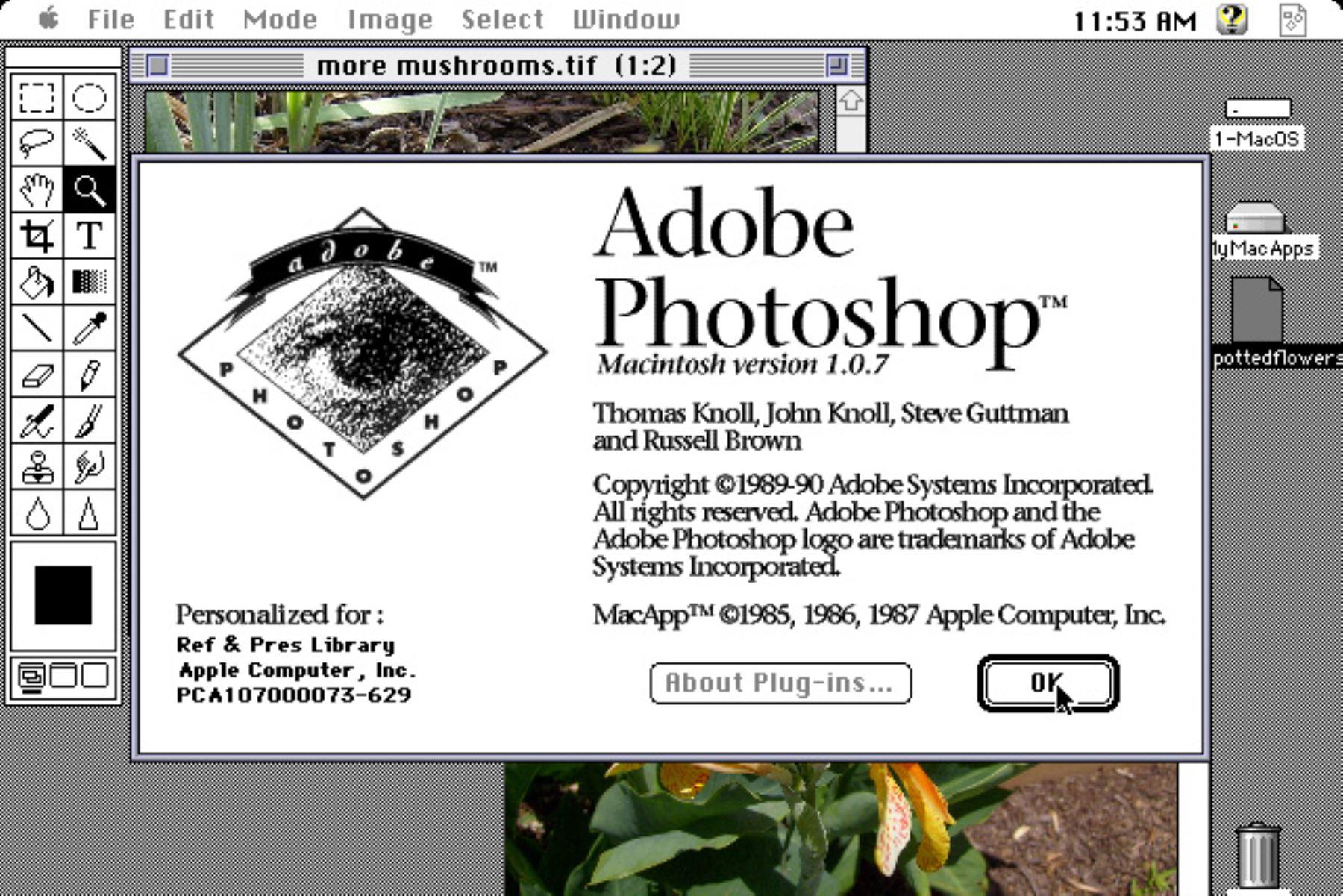 31 años de una de las herramientas indispensables para los fotógrafos: Photoshop. Foto: Captura de pantalla