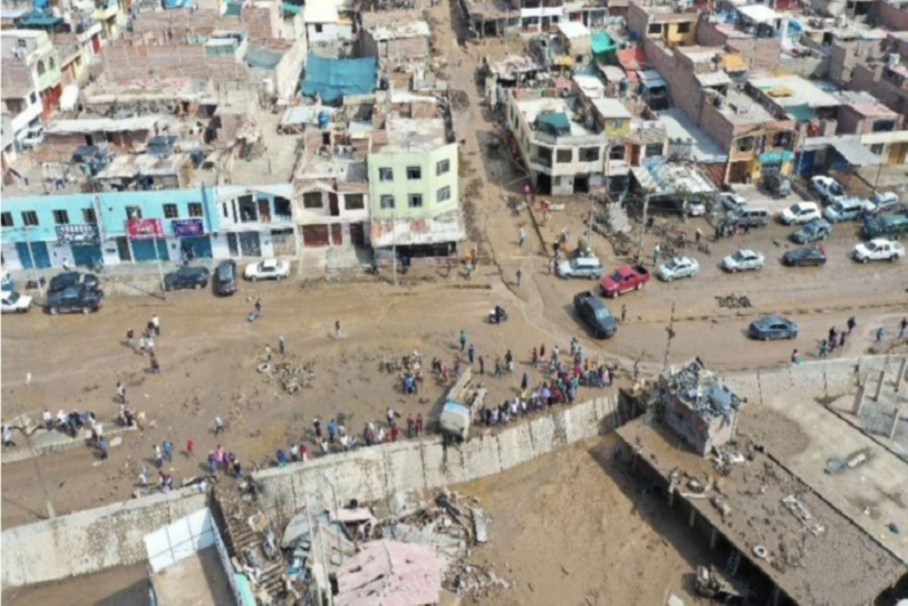 El huaico en Tacna dejó cuatro fallecidos, tres mil damnificados y alrededor de  300 viviendas dañadas