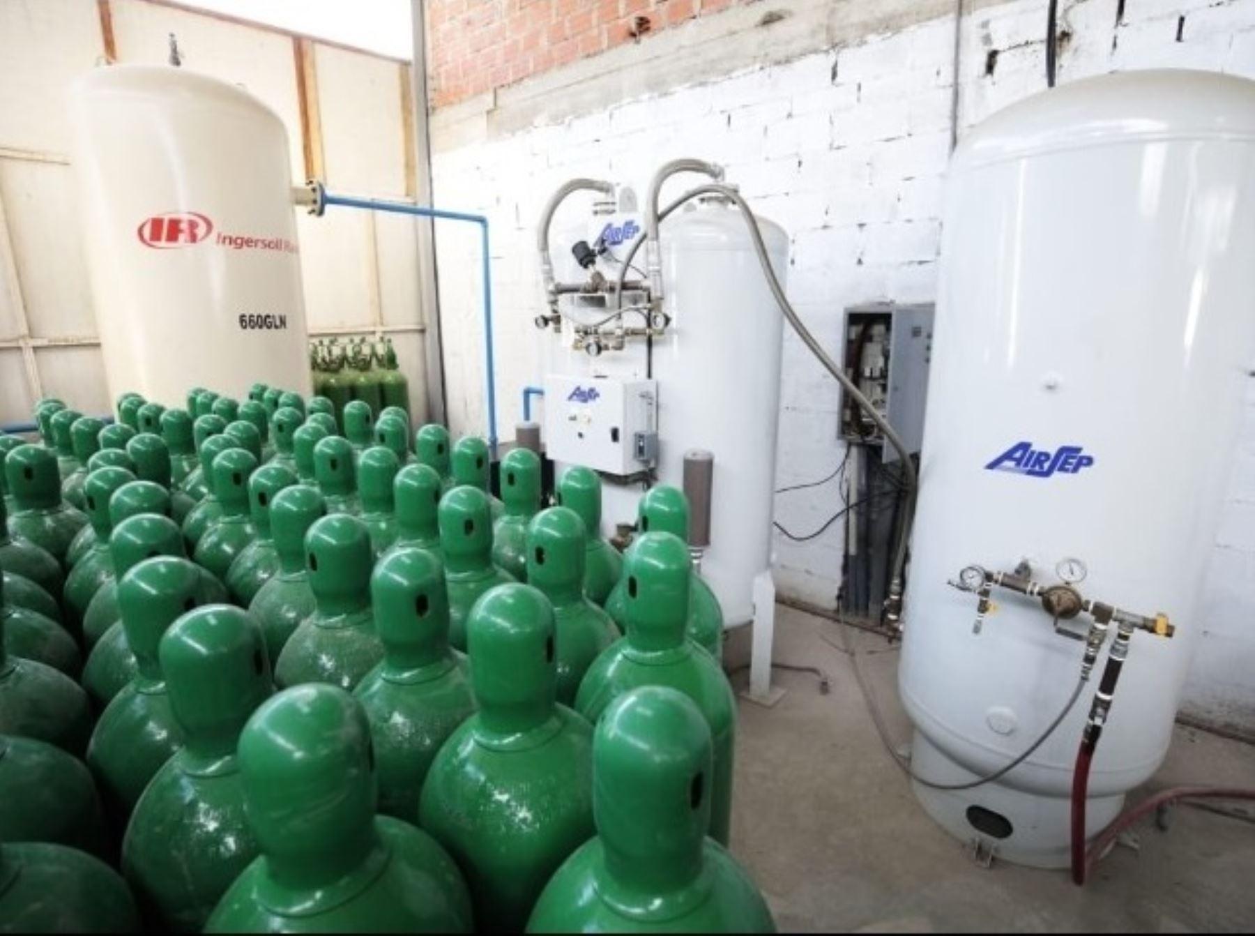 San Martín es una de las pocas regiones del país que cuenta con el suficiente stock de oxígeno medicinal que le permite atender también la demanda de otros departamentos. ANDINA/Difusión