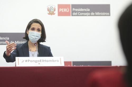 Ministras de Estado brindan conferencia de prensa para informar sobre balance y acciones del ejecutivo frente a la pandemia