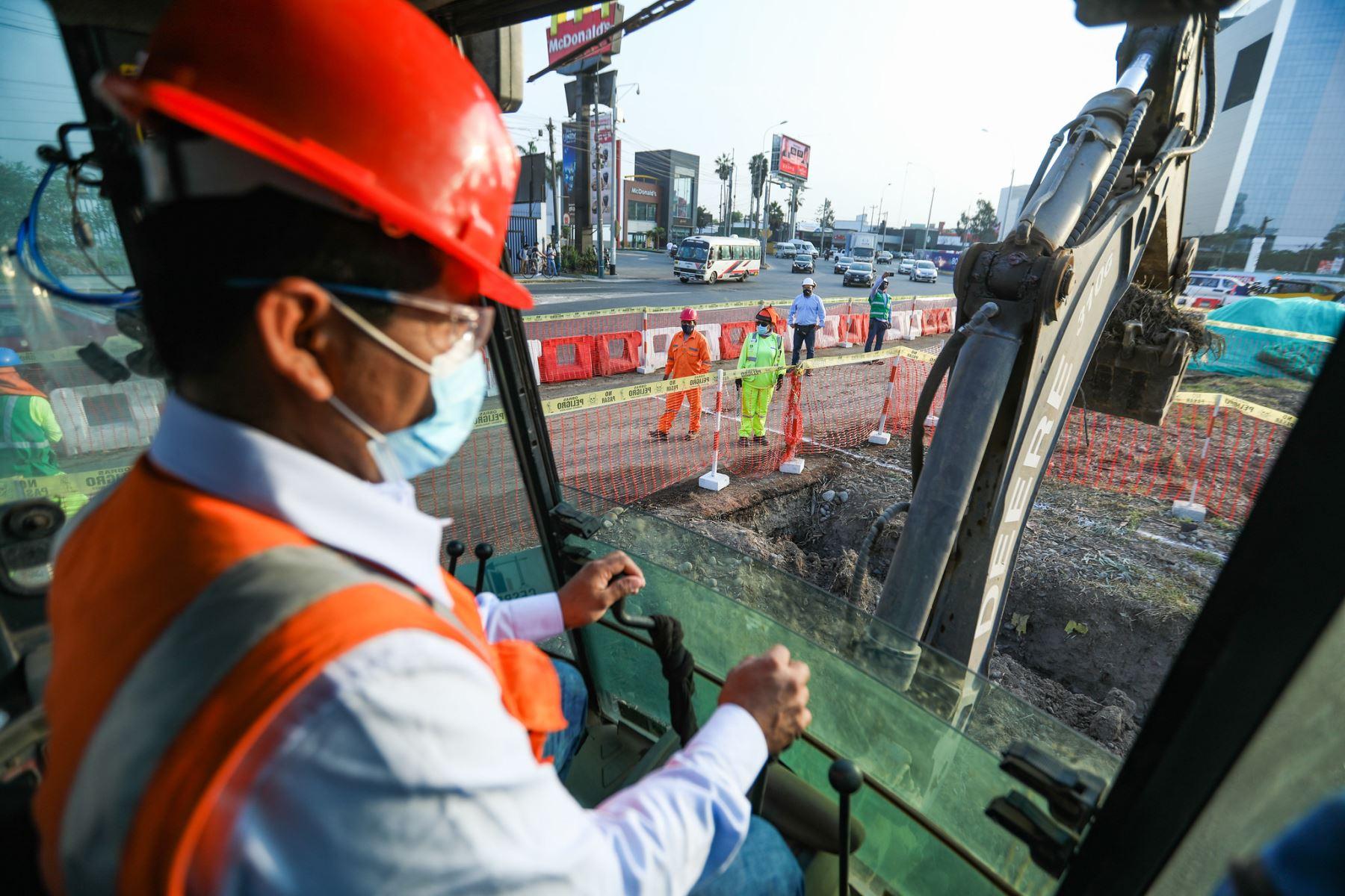 Alcalde de Lima, Jorge Muñoz, presenta inicio de obras de Paso a Desnivel en el Ovalo Monitor-14.  Foto: ANDINA/Municipalidad de Lima