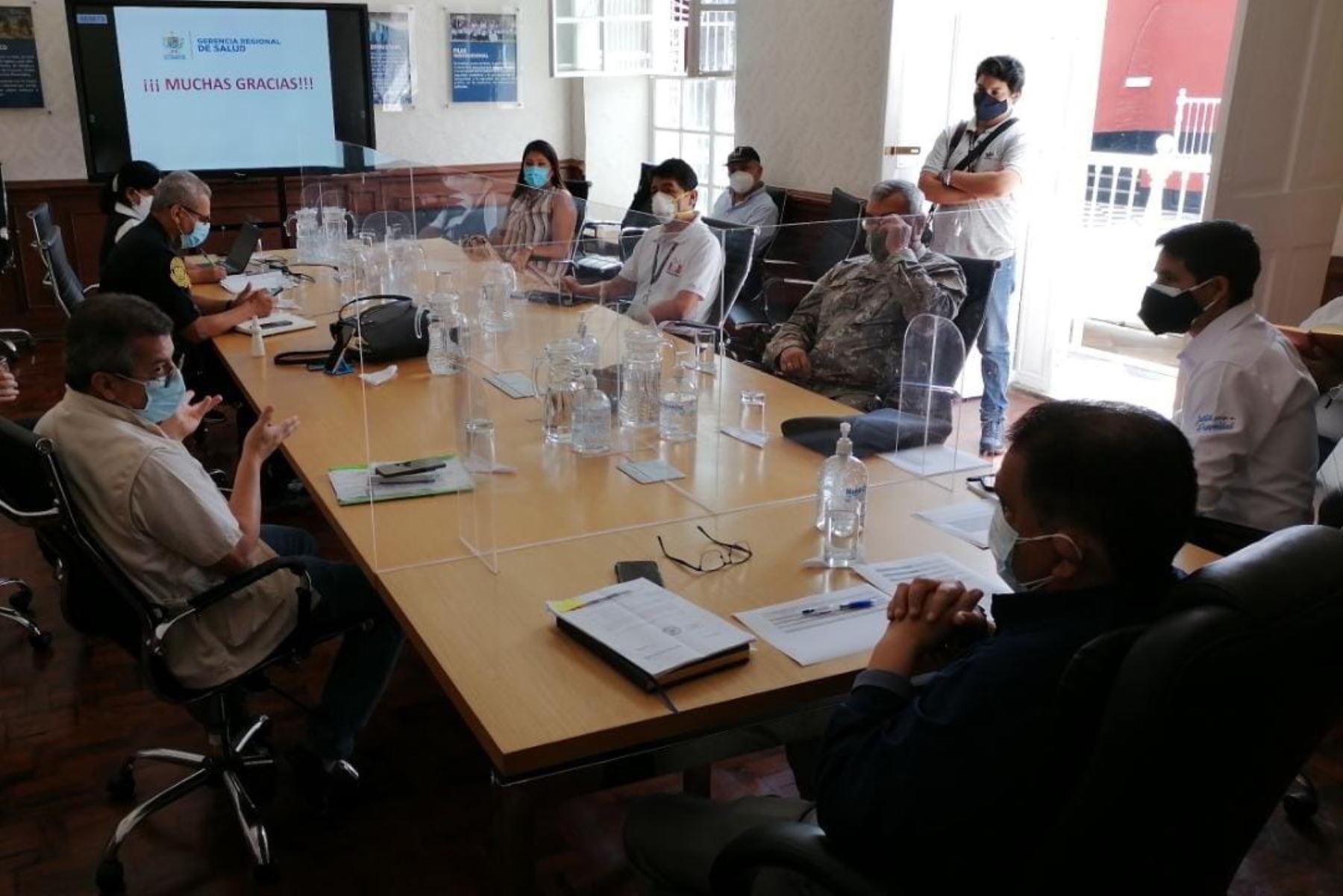 Reunión del coordinación del Comando Covid-19 de la región La Libertad.