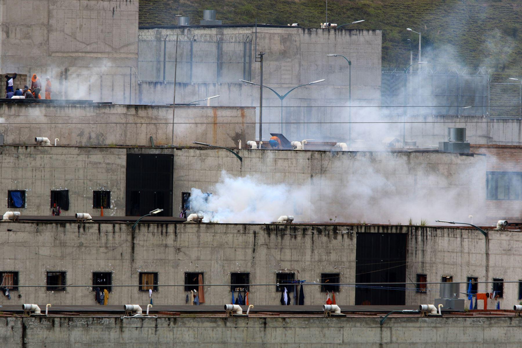 Vista de la cárcel del el Turi hoy, en la ciudad de Cuenca (Ecuador). Más de 50 reclusos murieron  en una serie de amotinamientos ocurridos en tres prisiones de varias ciudades de Ecuador. Foto : EFE