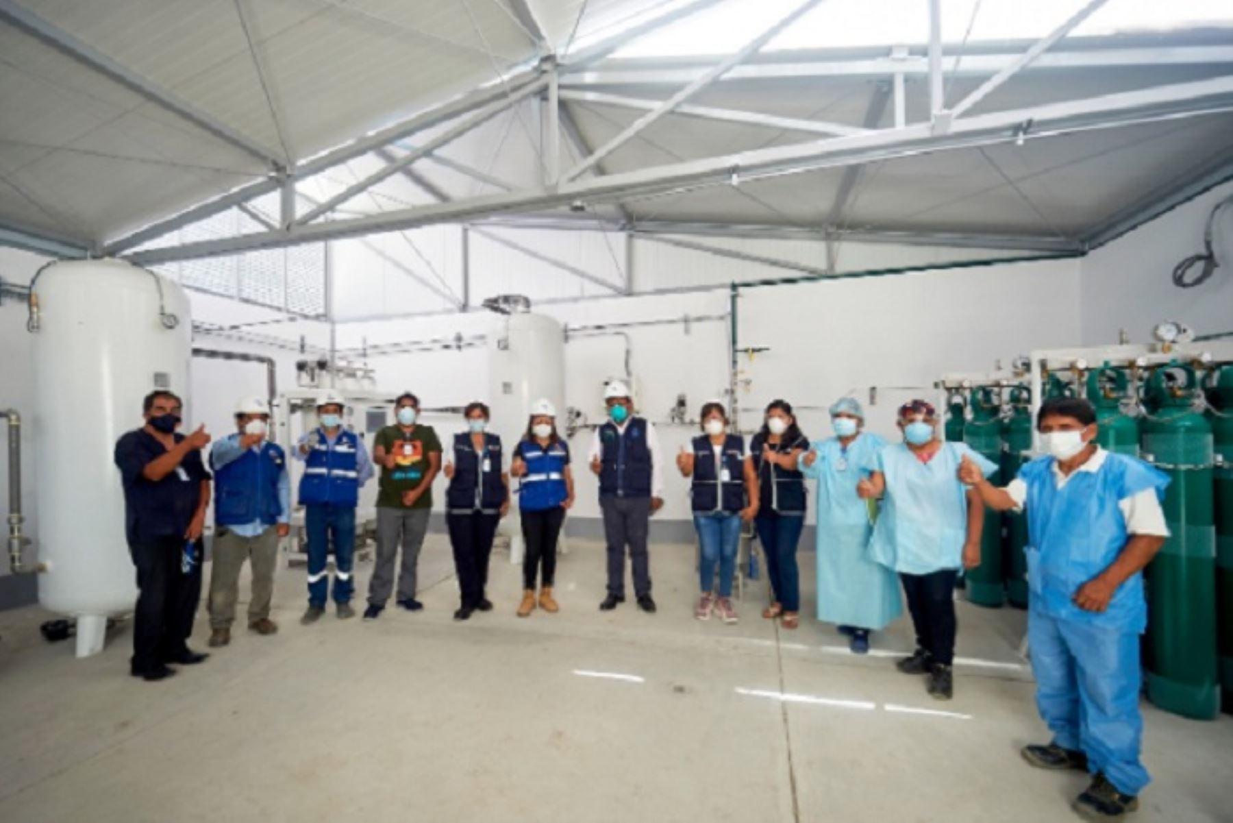 La planta generadora de oxígeno del Hospital San José de Chincha implementada gracias al proyecto Oxigena 47.
