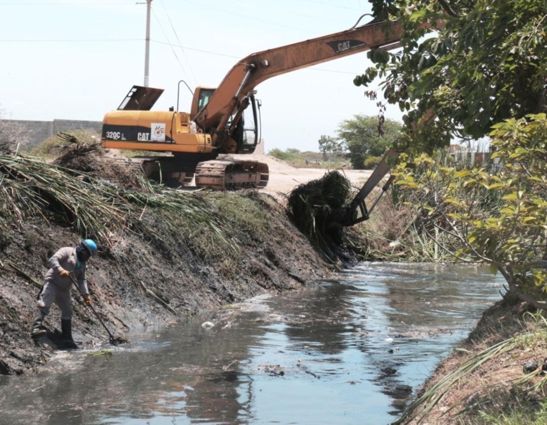 Lambayeque inicia mantenimiento de drenes para prevenir posibles daños por lluvias en zonas urbanas y agrícolas. ANDINA/Difusión