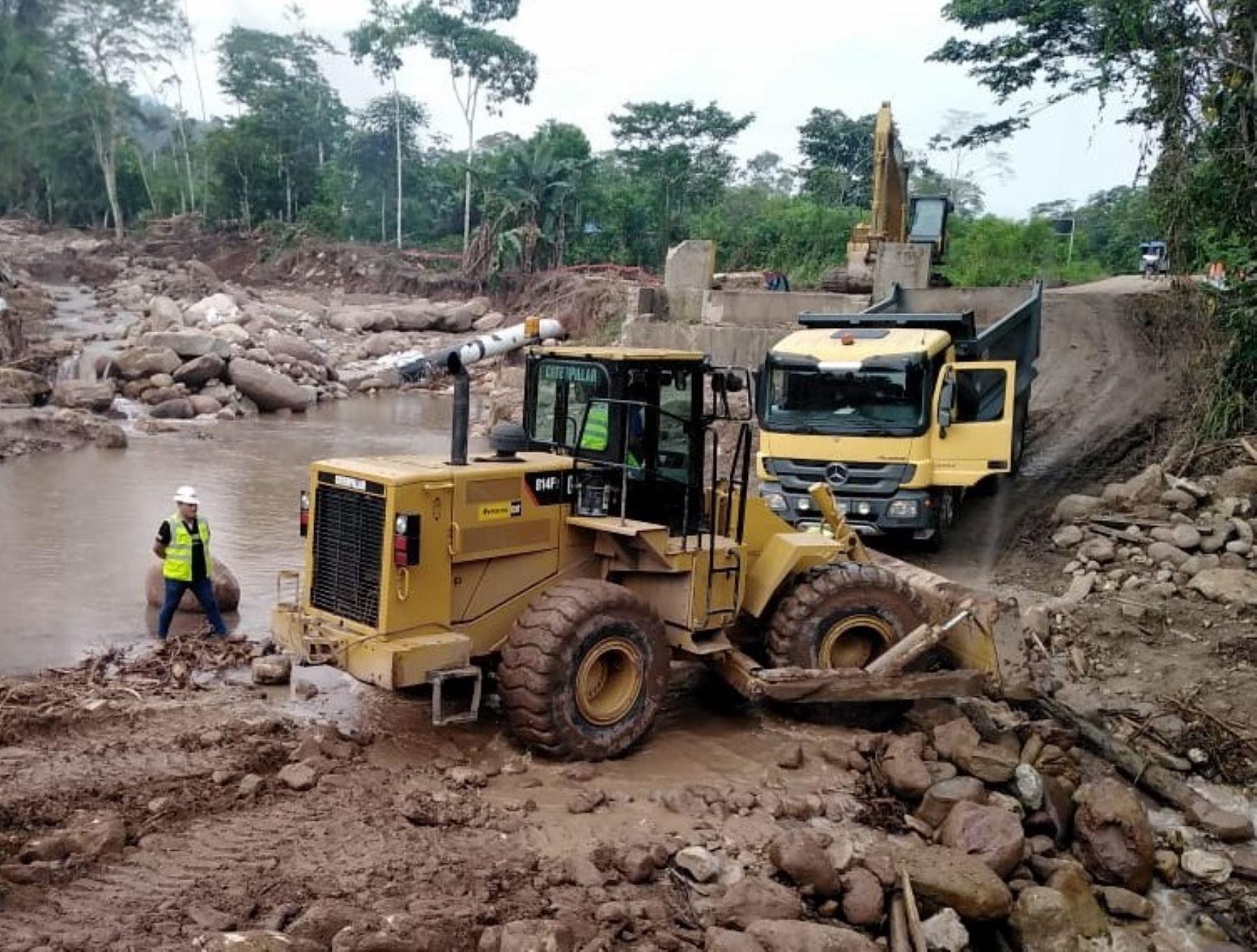 Amazonas reporta emergencias viales a causa de las lluvias intensas que provocaron la crecida de ríos y activación de quebradas en esta región. ANDINA/Difusión