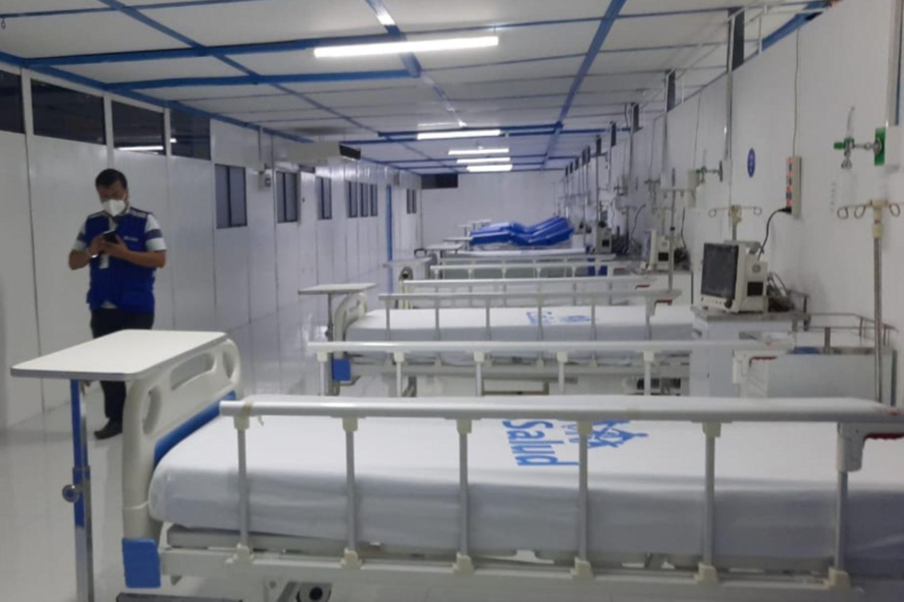 El hospital de contingencia covid-19 de EsSalud en la región Madre de Dios ahora cuenta con 31 camas. Foto: ANDINA/EsSalud