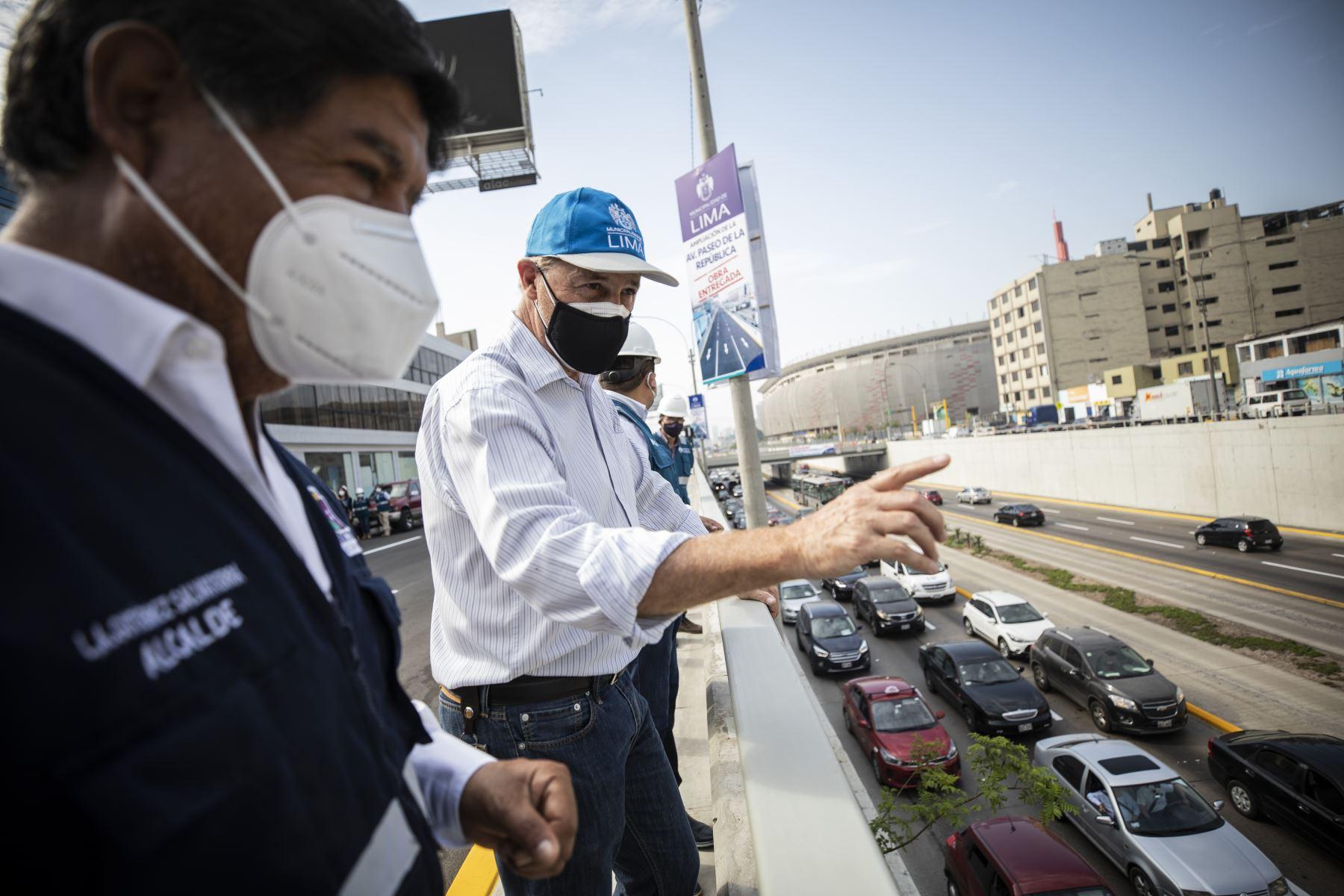 El alcalde de Lima, Jorge Muñoz, inauguró la ampliación de un nuevo tramo de la Av. Paseo de la República, en el límite de los distritos de La Victoria y el Cercado. Foto:ANDINA/Municipalidad de Lima